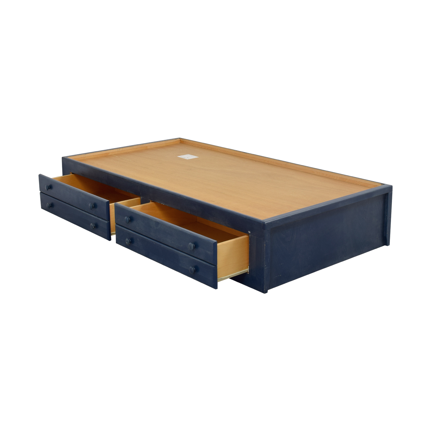 Twin Bed Frame With Storage 77% Off - Pottery Barn Pottery Barn Slate Blue Twin