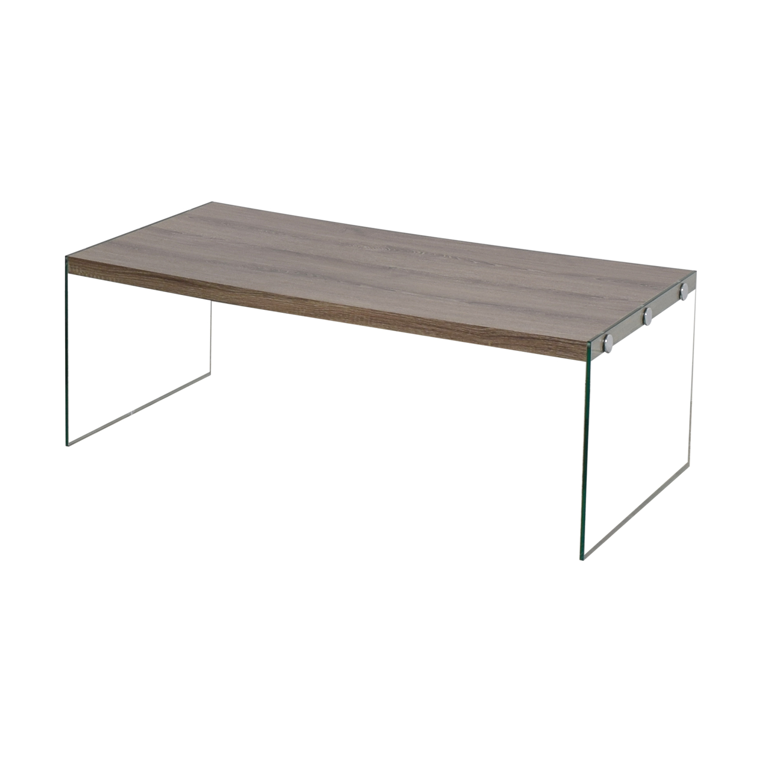 Rustic Wood And Glass Coffee Table 80 Off Monarch Specialties Monarch Specialties Grey