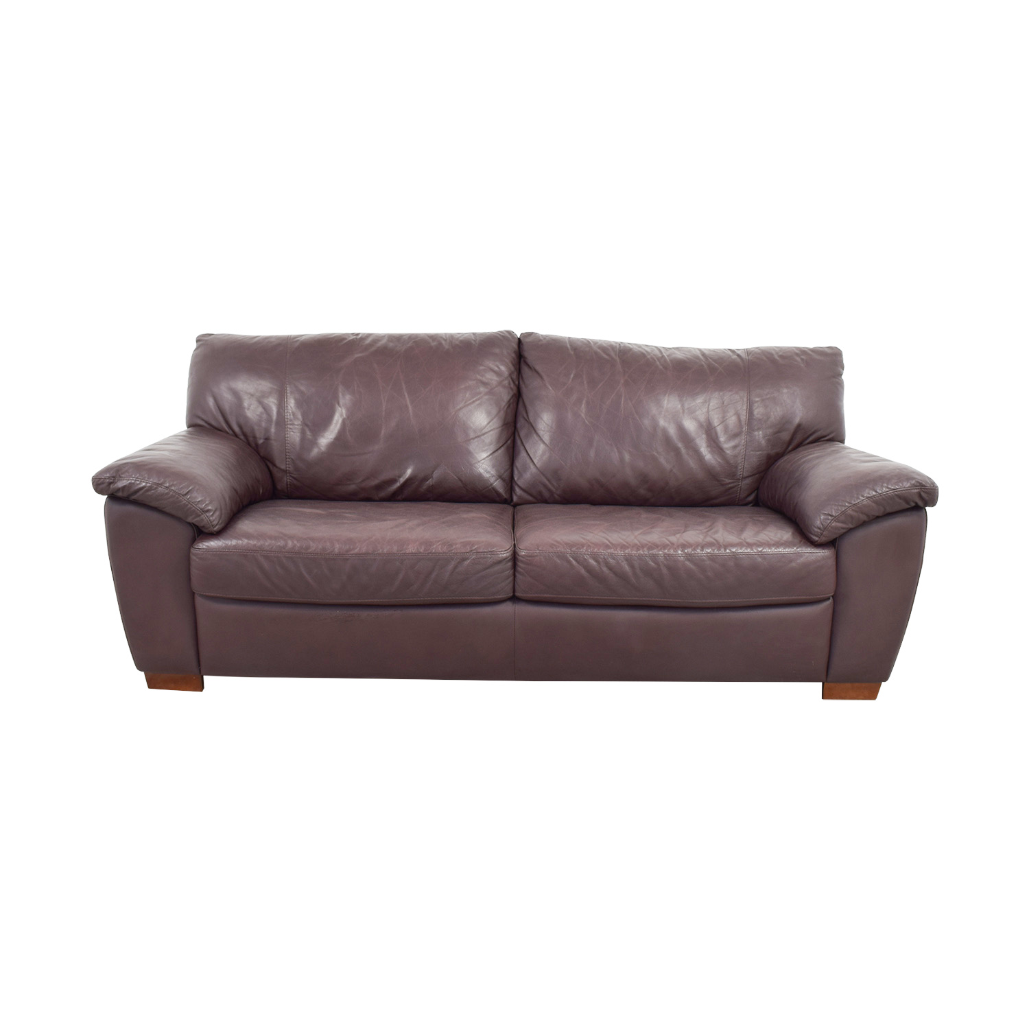Cushions For Brown Leather Sofas 87 Off Ikea Ikea Vreta Brown Leather Two Cushion Sofa