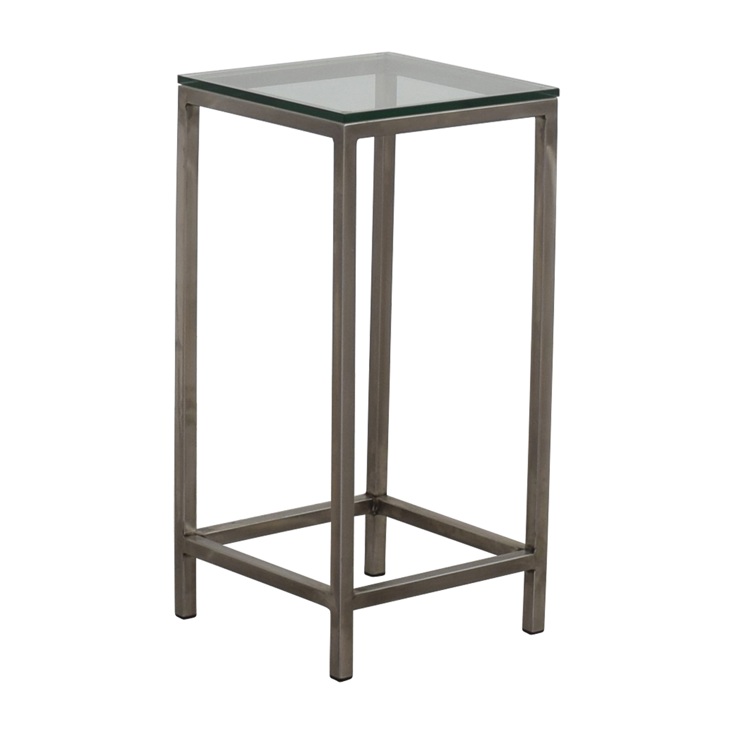 Square Glass End Tables 88 Off Crate And Barrel Crate And Barrel Era Square Glass