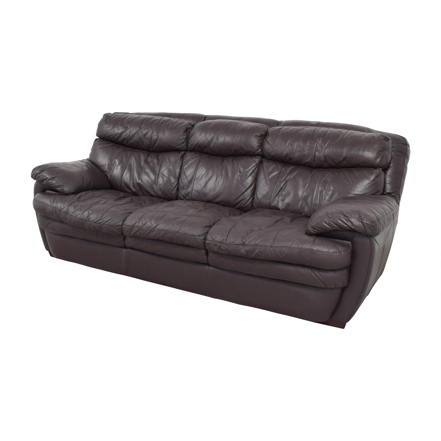 Cushions For Brown Leather Sofas 90 Off Bob 39s Furniture Bob 39s Furniture Three Cushion