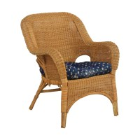90% OFF - Natural Wicker Armchair with Cushion / Chairs
