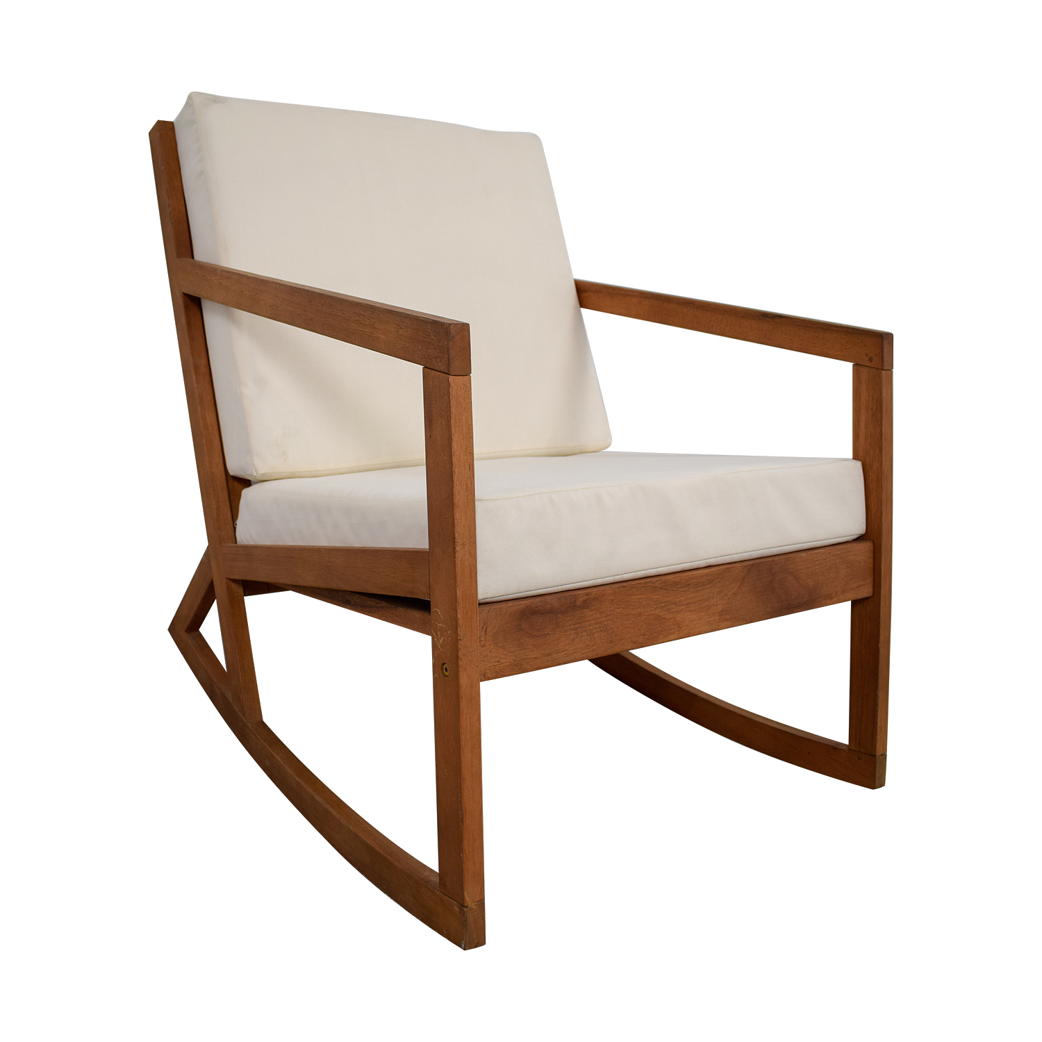 White Wooden Rocking Chairs For Sale 55 Off Safavieh Safavieh White Upholstered Wood Rocking