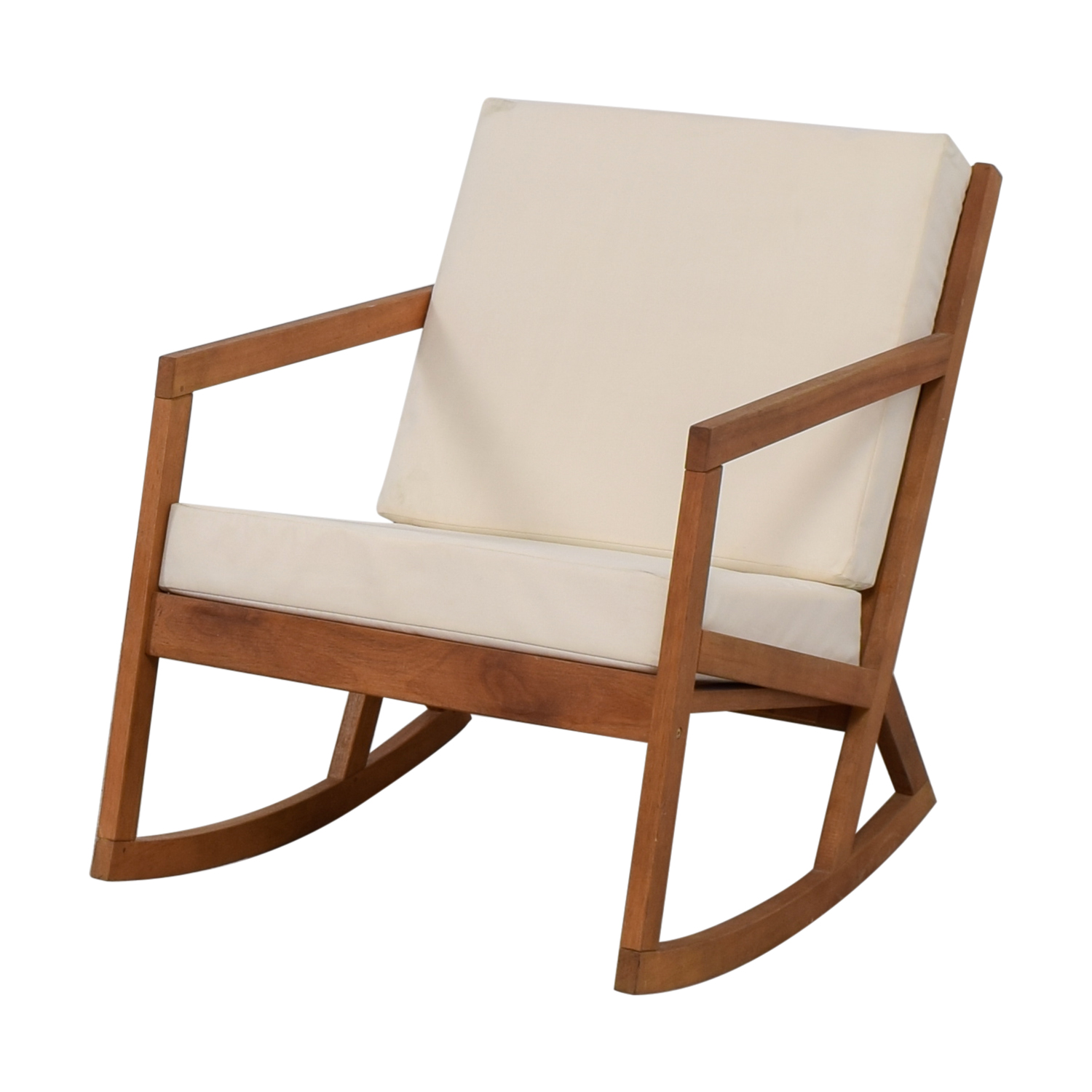 Upholstered Rocking Chair 55 Off Safavieh Safavieh White Upholstered Wood Rocking