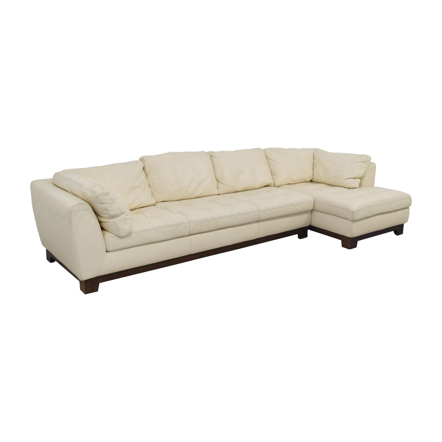 Chaise Roche Bobois 89 Off Roche Bobois Roche Bobois Cream Leather Chaise