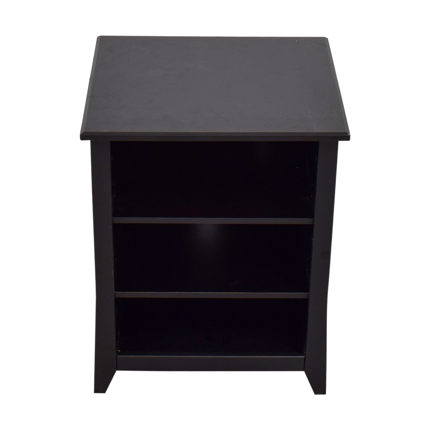 Black End Table With Storage 90 Off Black Three Shelf Media Unit Or Side Table Storage