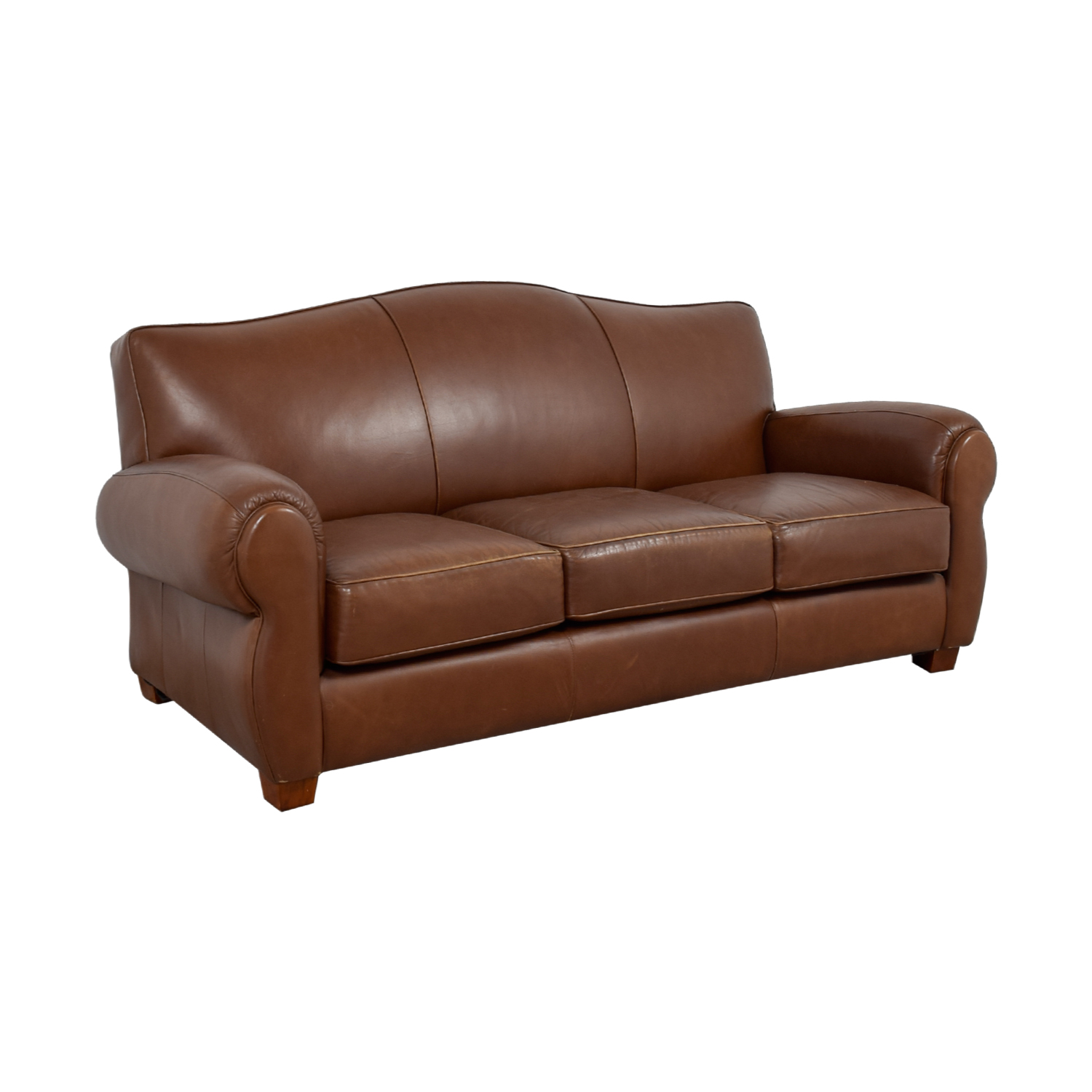 Cushions For Brown Leather Sofas 70 Off Thomasville Thomasville Brown Leather Three