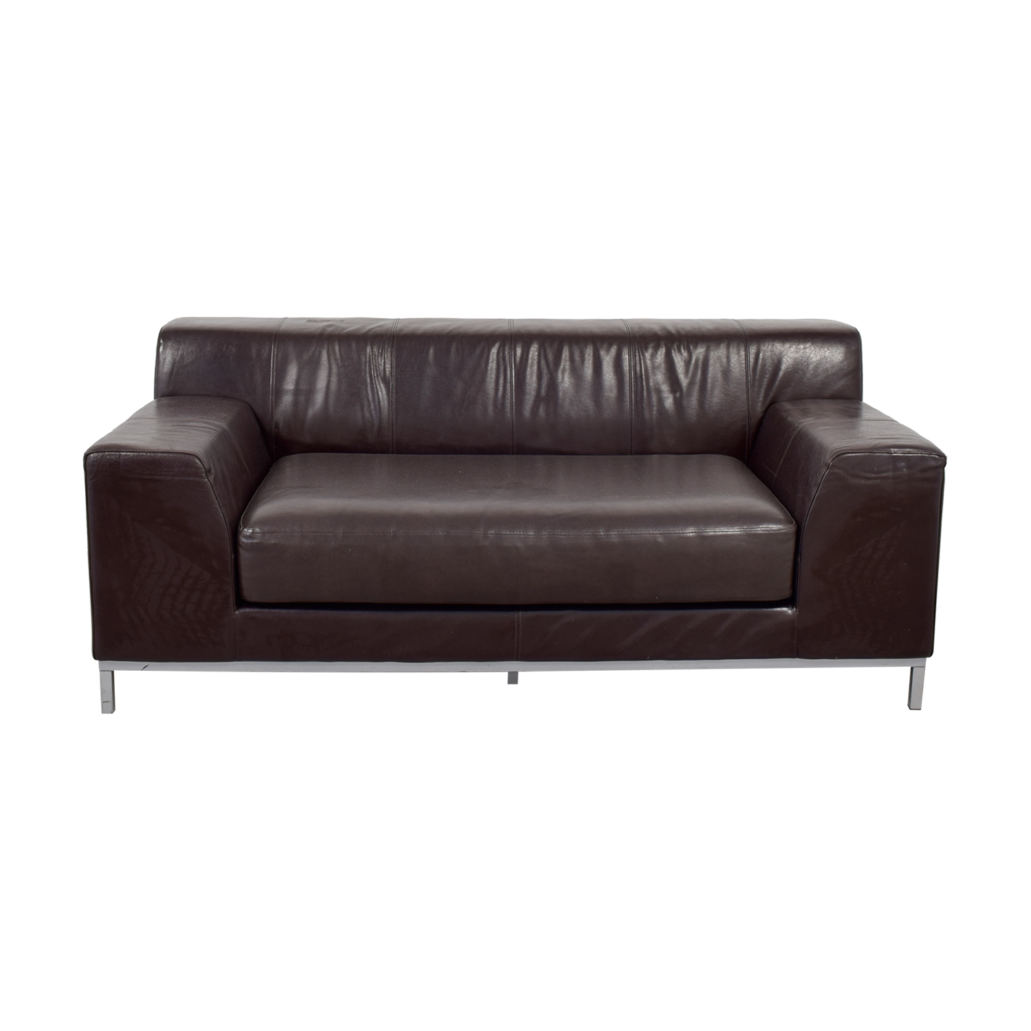 Sofa Ikea Kramfors 90 Off Ikea Ikea Kramfors Brown Leather Love Seat Sofas