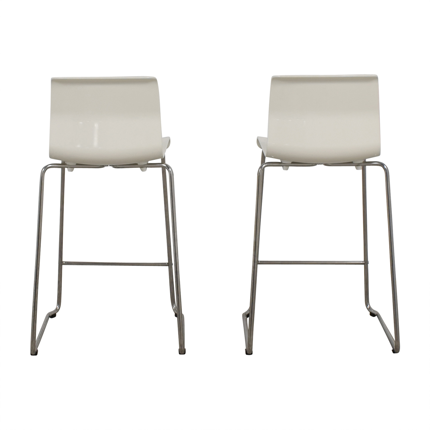 36 Inch Bar Stools Ikea 57 Off Ikea Ikea Glenn White Bar Stools Chairs