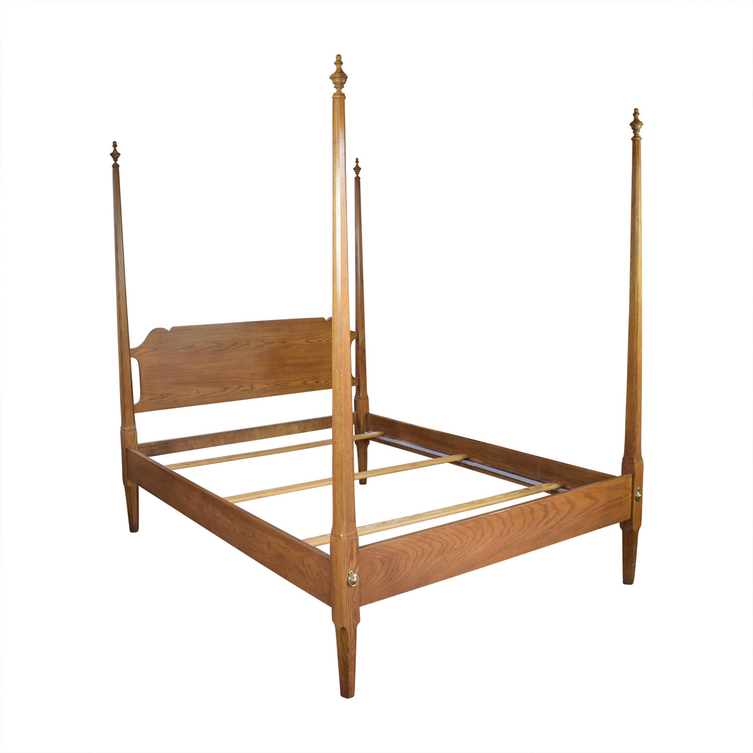 4 Poster Bed Frame Queen 88 Off Four Poster Wood Queen Bed Frame Beds