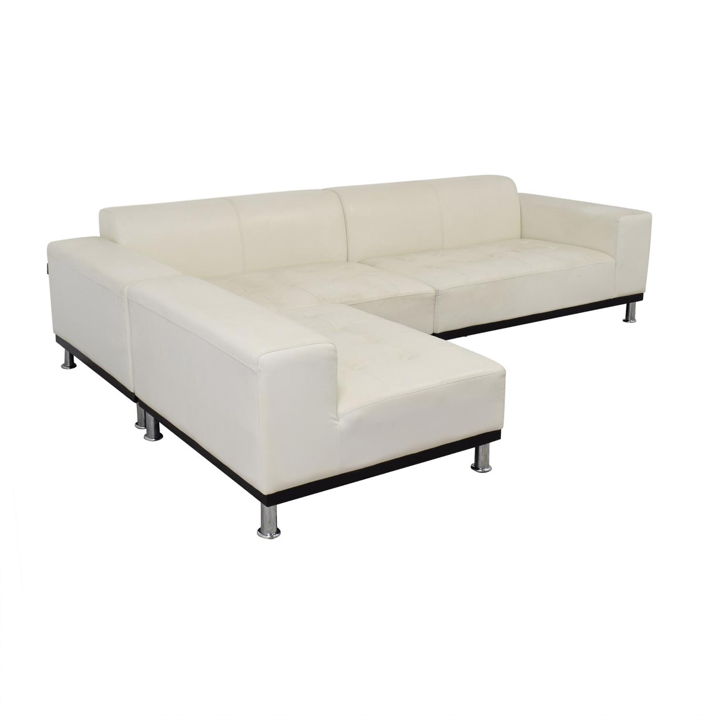Fullsize Of White Leather Sectional