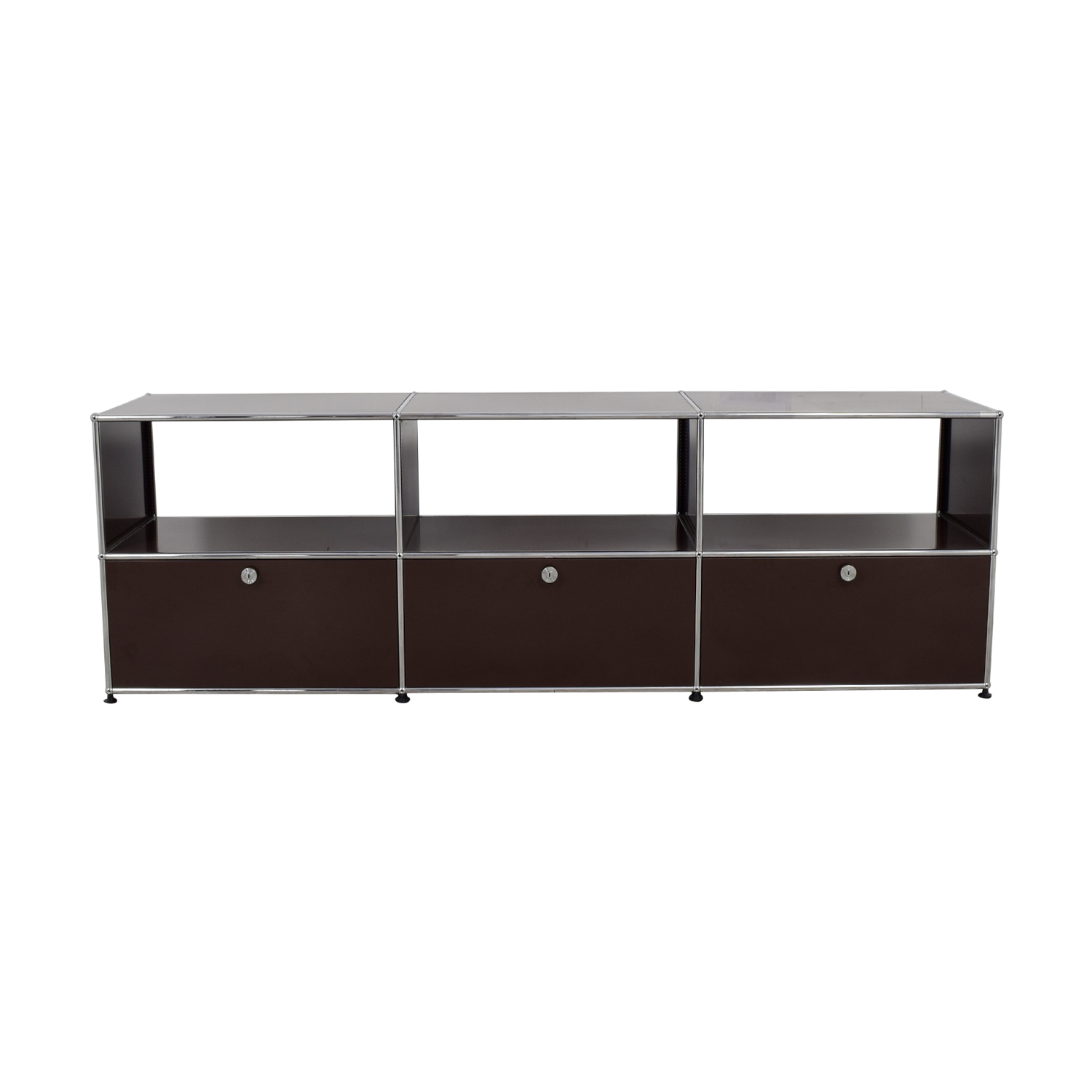 Console With Drawers 74 Off Usm Usm Tv Console With Three Drawers Storage