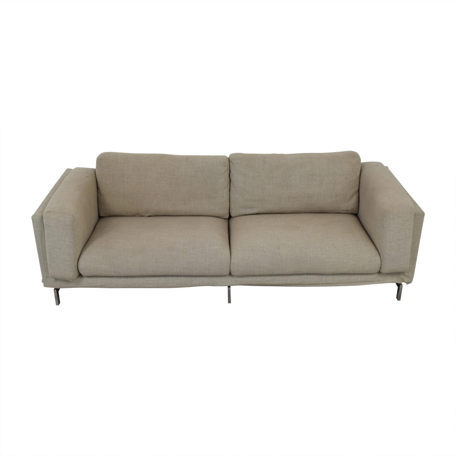 Ikea Bezüge Sofa 74 Off Ikea Ikea Grey And Beige Nockeby Two Cushion