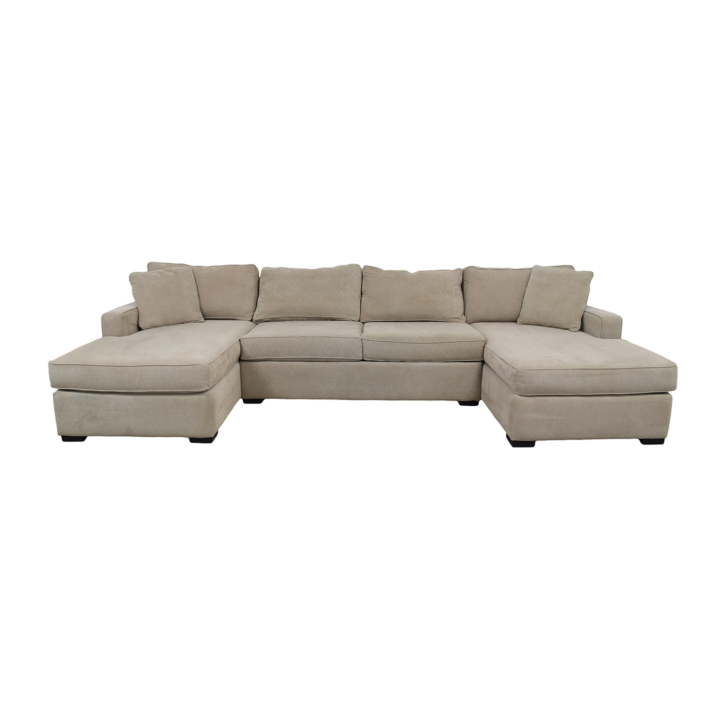 Double Chaise Sectional 54% Off - Macy's Macy's Beige Double Chaise Sectional / Sofas