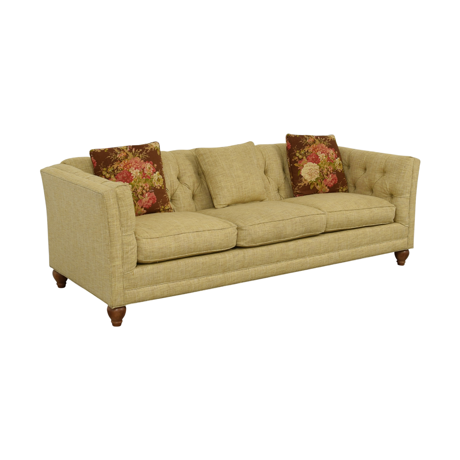 Sofa On Online Country Willow Tan Three Cushion Sofa