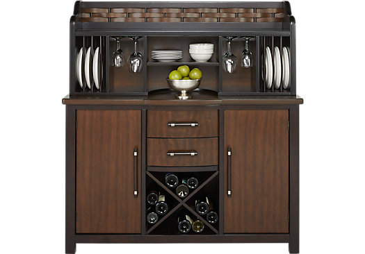 Bedford Heights Cherry 2 Pc Server Transitional