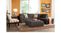 Orange & Gray Living Room Inspiration & Ideas for Decorating