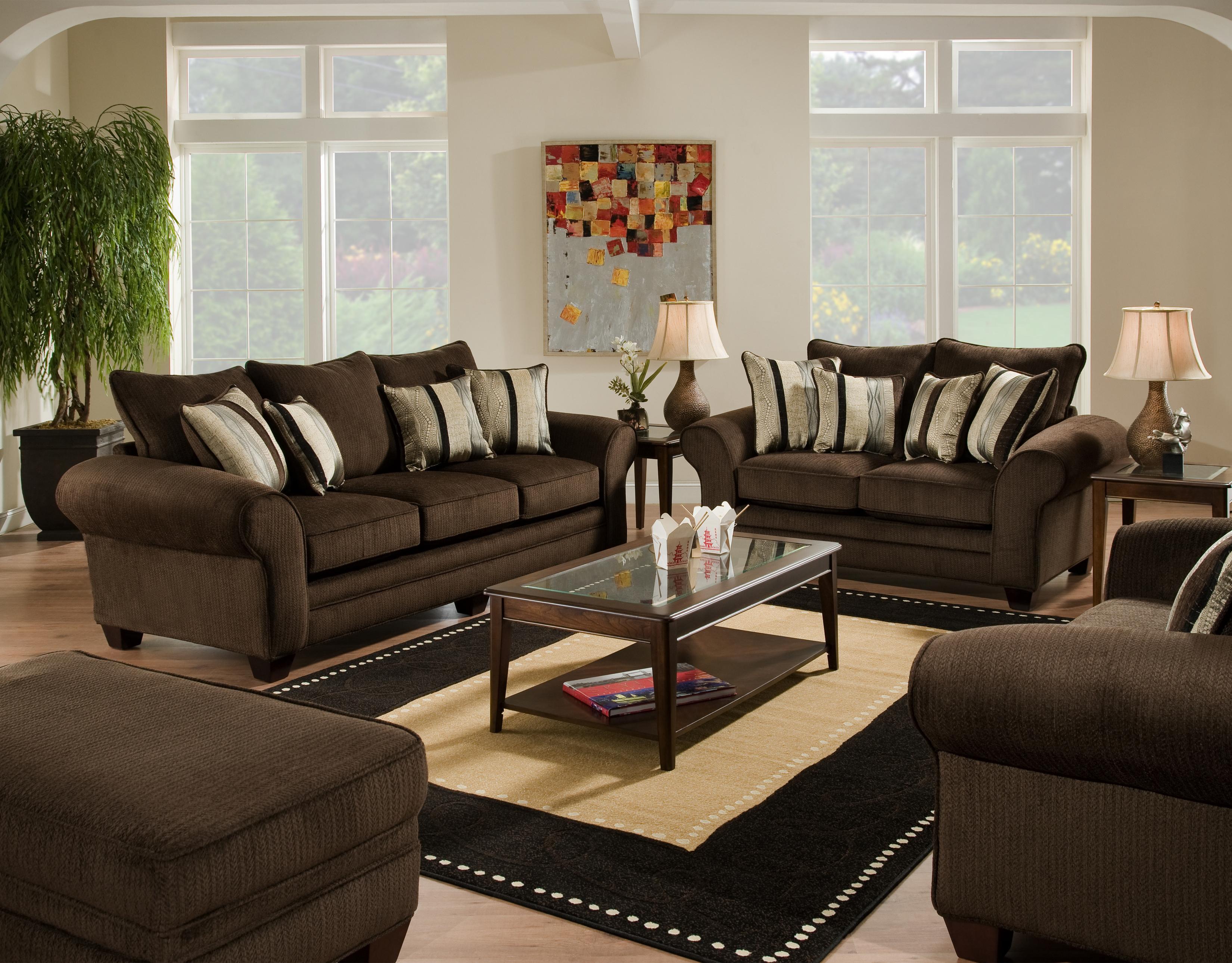 American furniture 3700 stationary living room group item number waverly godiva living room group