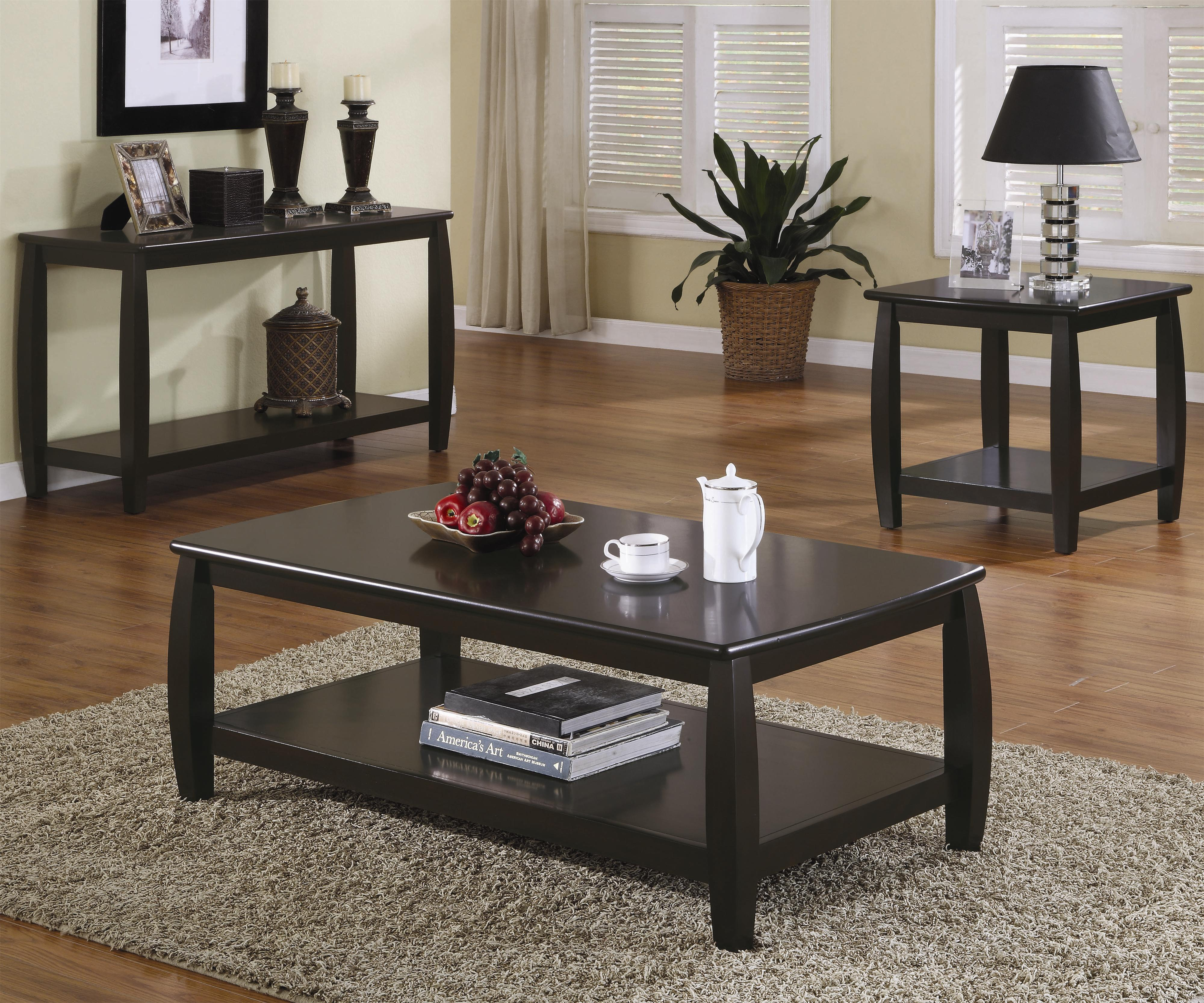 Coffee And End Tables With Storage Marina Coffee Table With 1 Shelf By Coaster At Rooms For Less