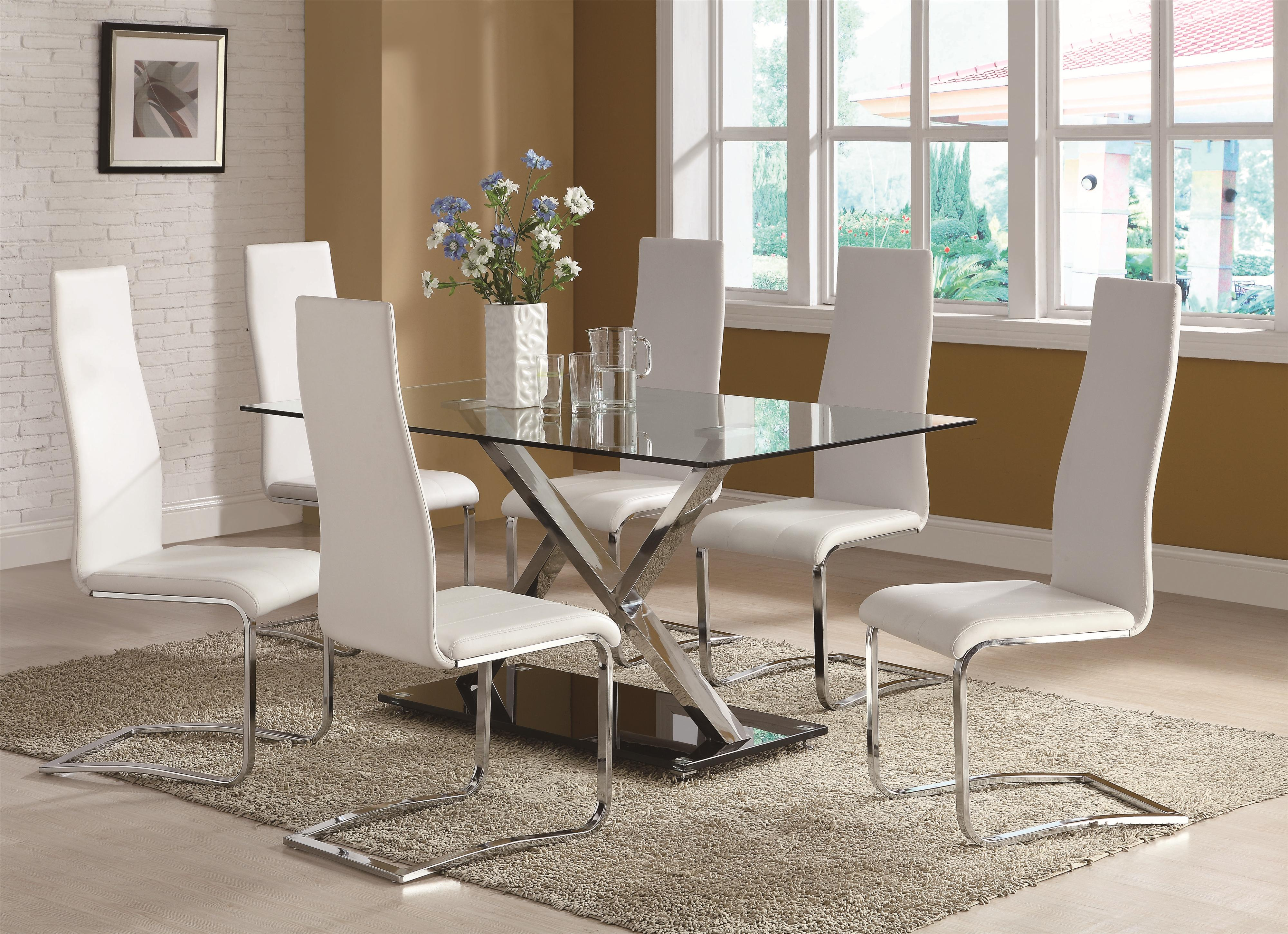 Modern Dining Room Furniture Modern Dining 100515 By Coaster Rooms For Less Coaster