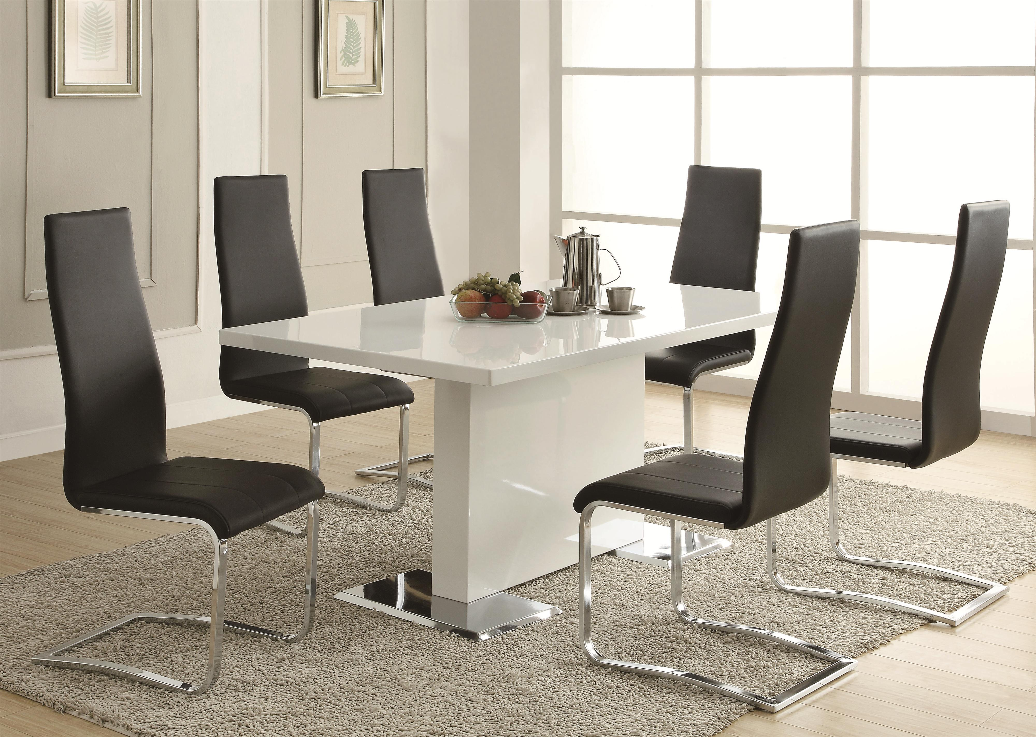 Coaster modern dining contemporary dining room set with glass table coaster fine furniture