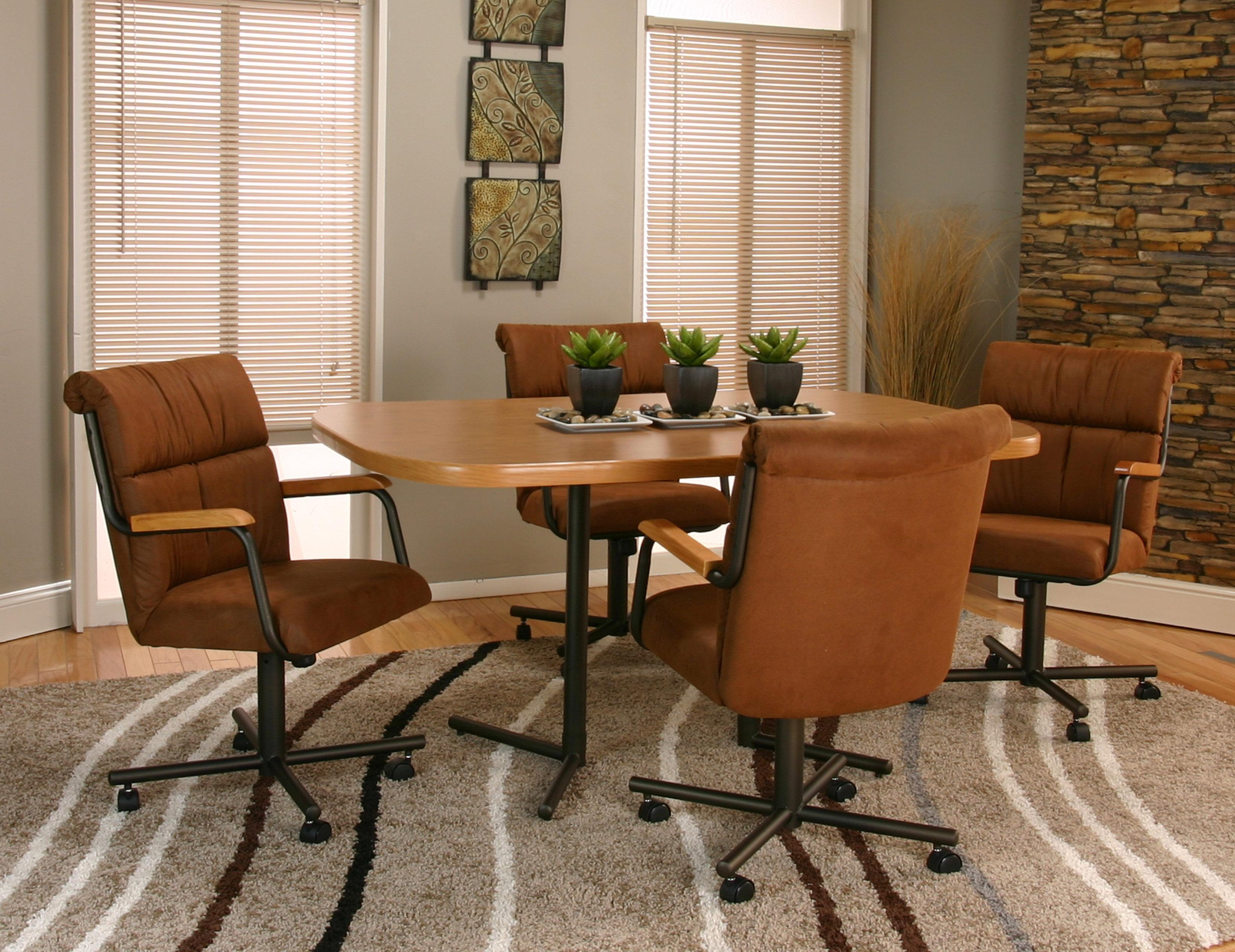kitchen chairs with wheels Cramco Inc Landon Dining Arm Chair With Casters Wayside Furniture Dining Chair with Casters