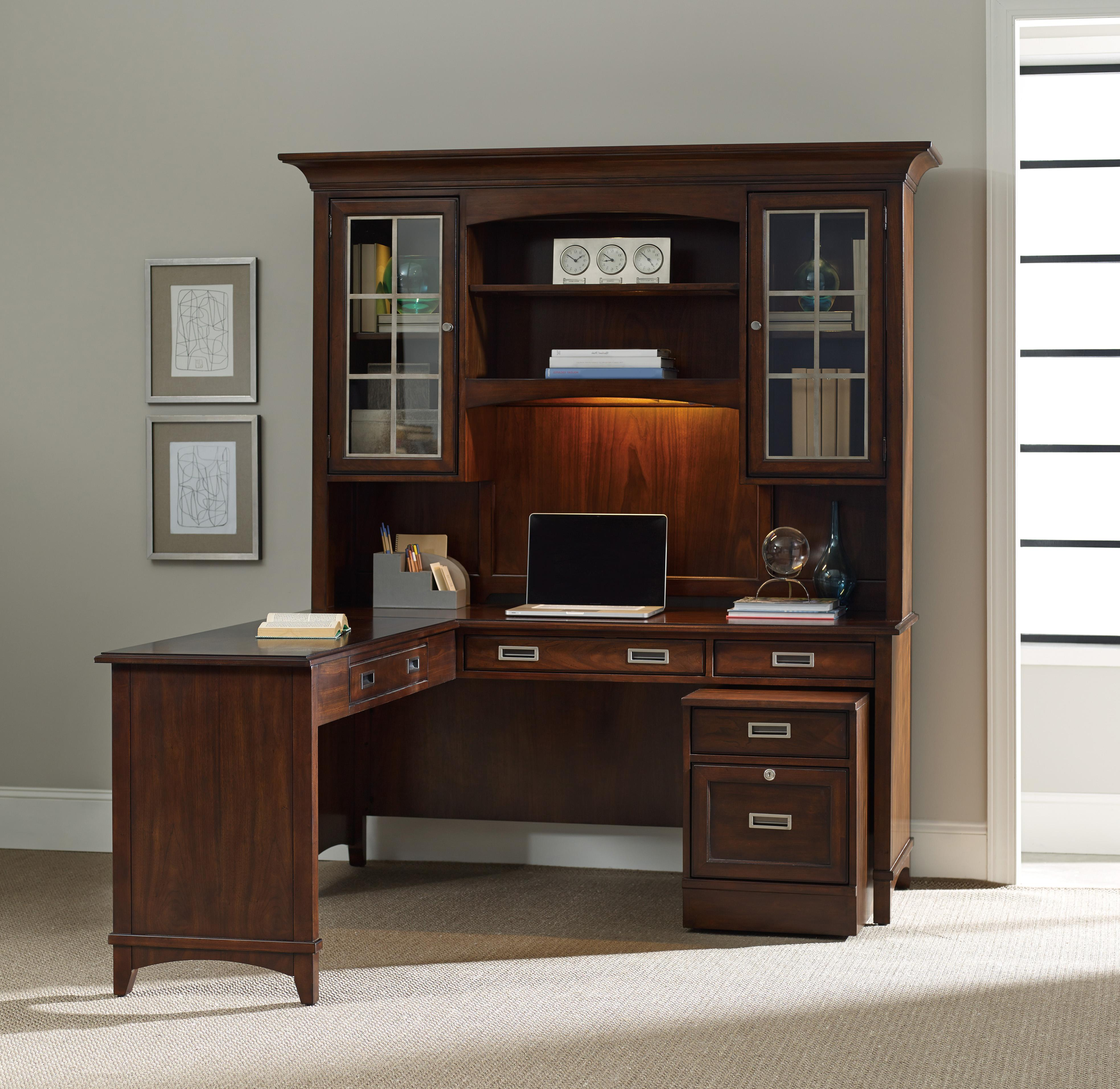 Desks With Drawers Latitude Walnut New Vintage Executive Desk With Filing Drawers By Hooker Furniture At Boulevard Home Furnishings