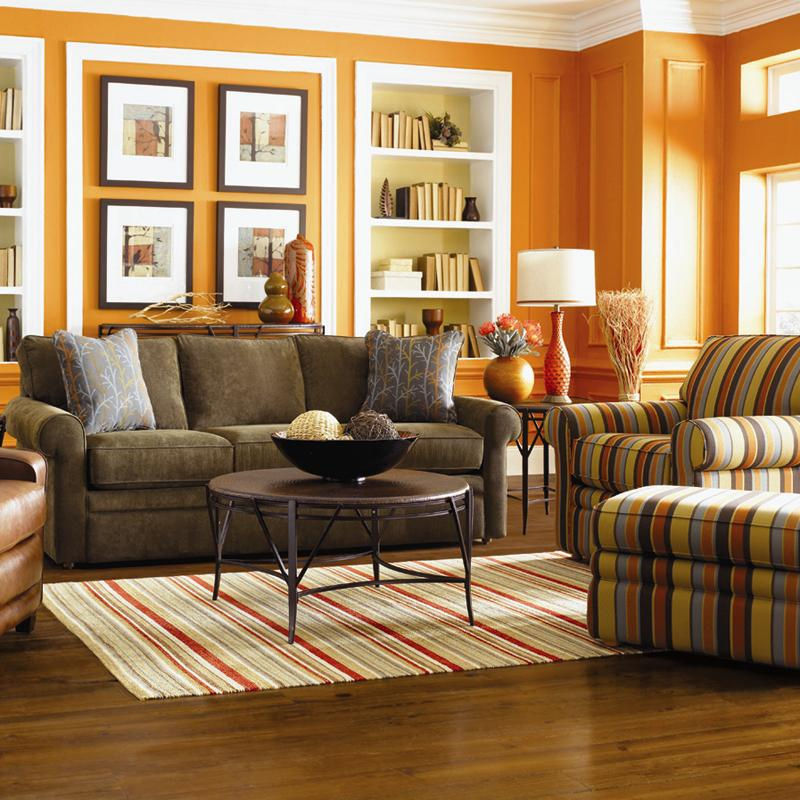 La-Z-Boy Collins Sofa with Rolled Arms - Lindyu0027s Furniture Company - lazy boy living room sets