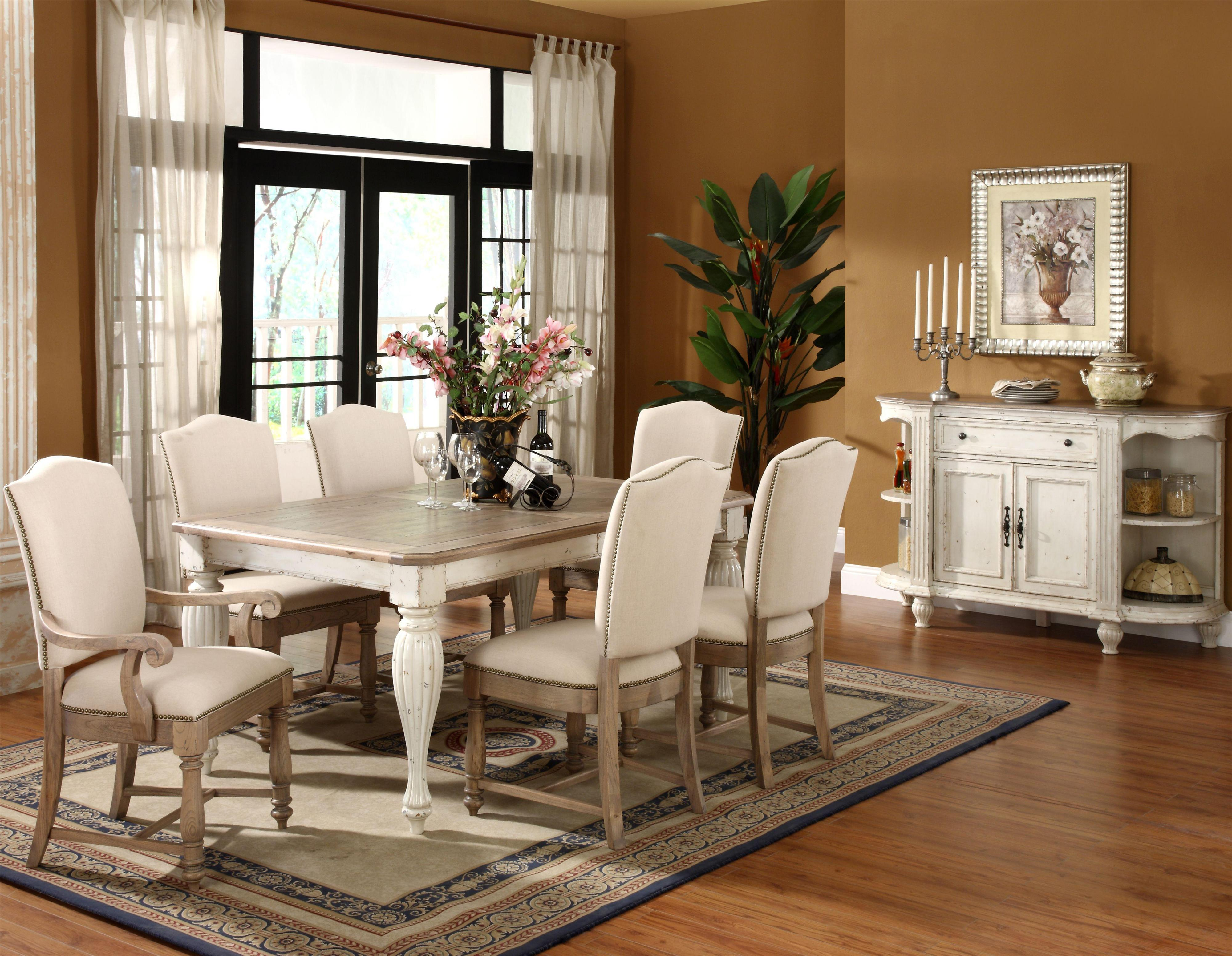 two tone kitchen table Riverside Furniture Coventry Two Tone Round Pedestal Dining Table with 18 Leaf Wilson s Furniture Dining Room Table Bellingham Ferndale Lynden