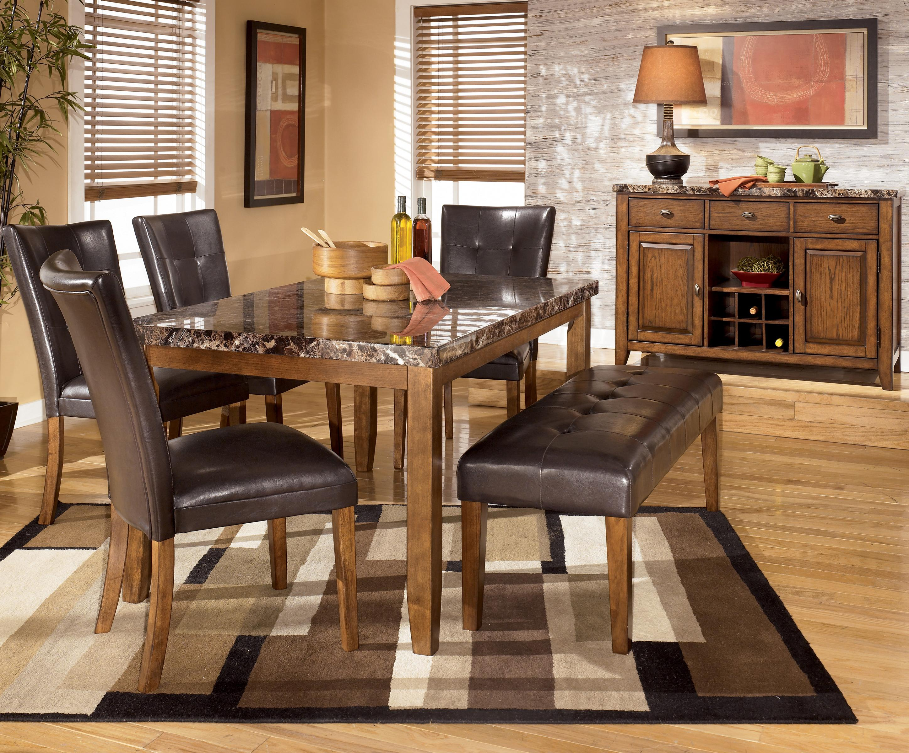 BrowseDiningRoom kitchen table chairs set Signature Design by Ashley Lacey 6 Piece Dining Table Chairs Bench Set