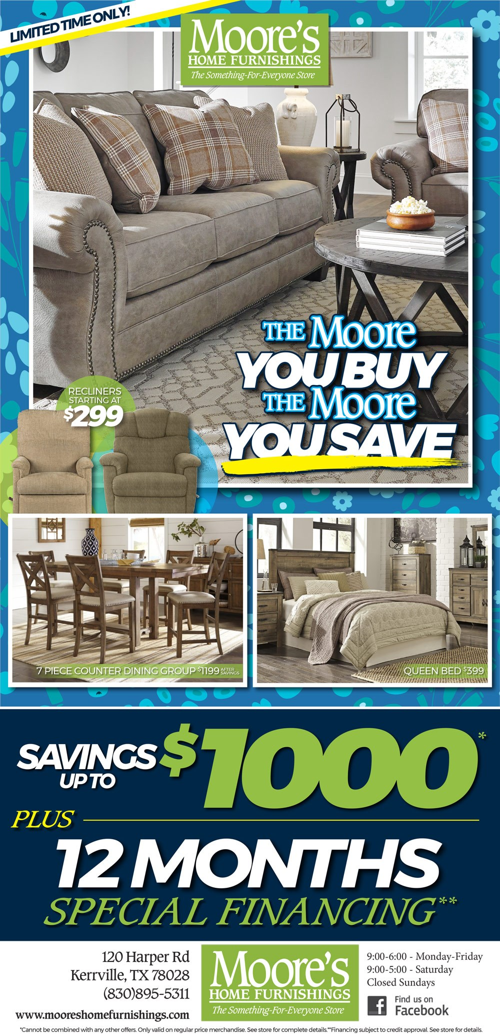 Couches Promotion Furniture Deals Moore S Home Furnishings Kerrville