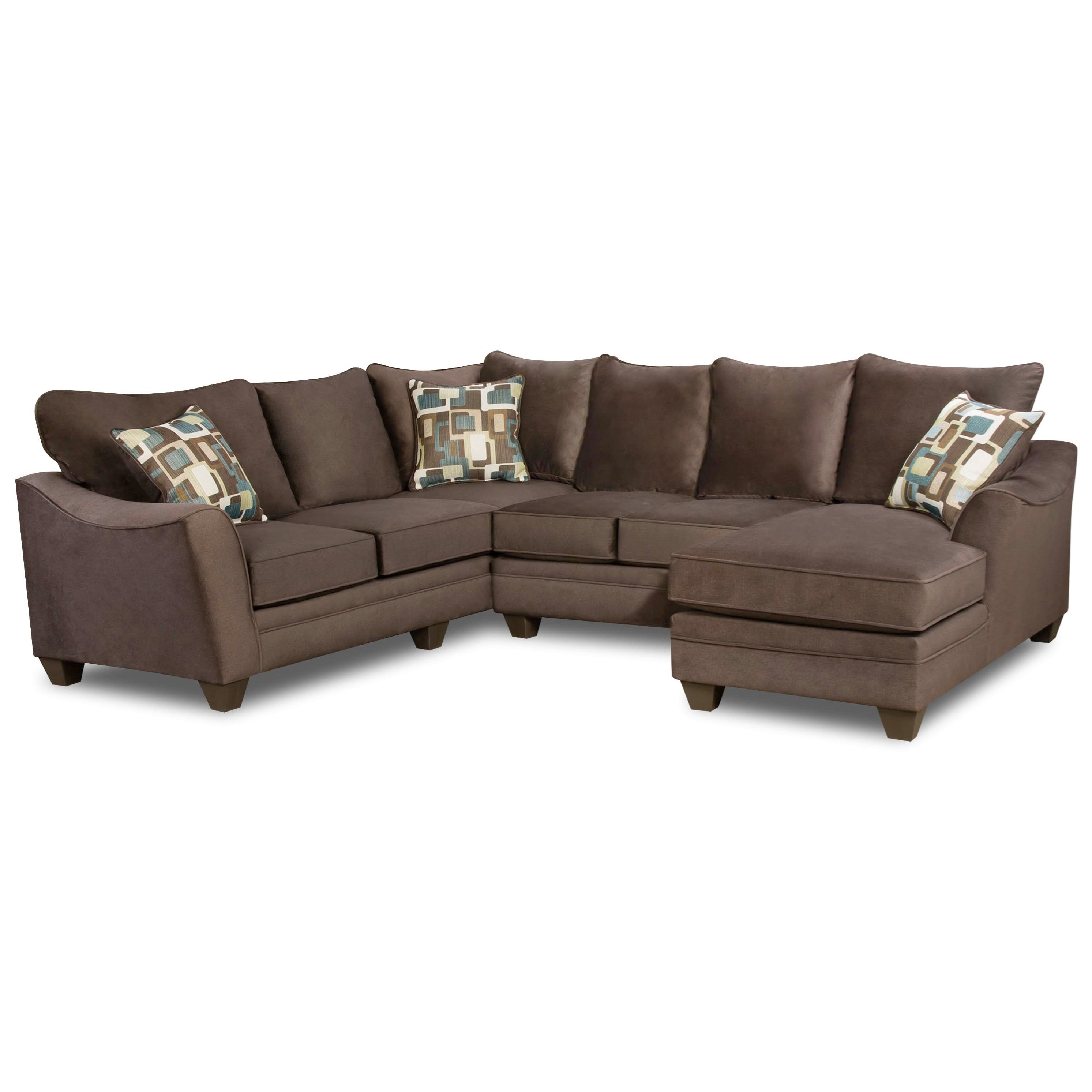 American Sofa Images 3810 Sectional Sofa With 5 Seats By American Furniture At Beck S Furniture