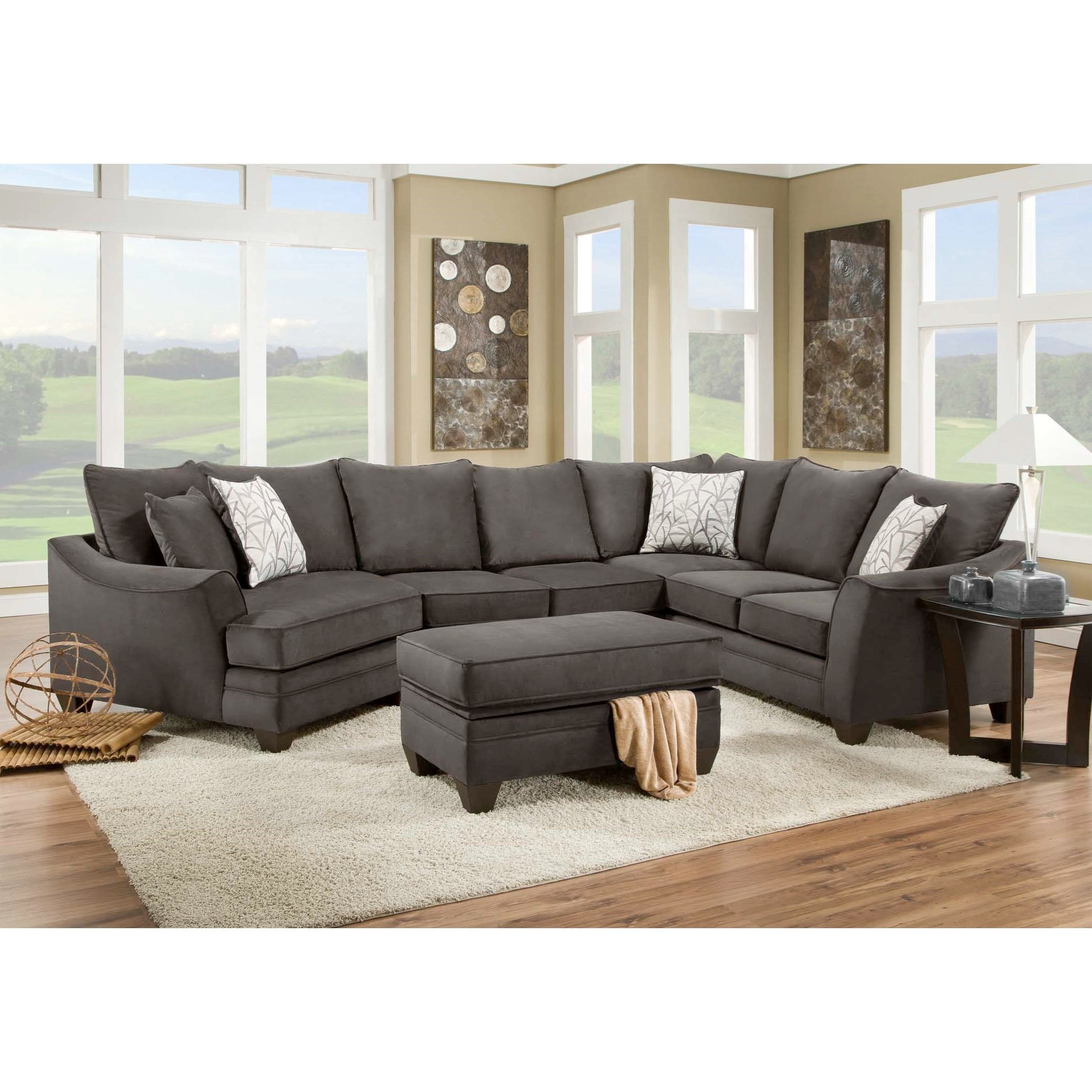 Vendor 610 3810 3814 3822 3840 4040 Sectional Sofa That Seats 5 With Left Side Cuddler Becker Furniture Sectional Sofas