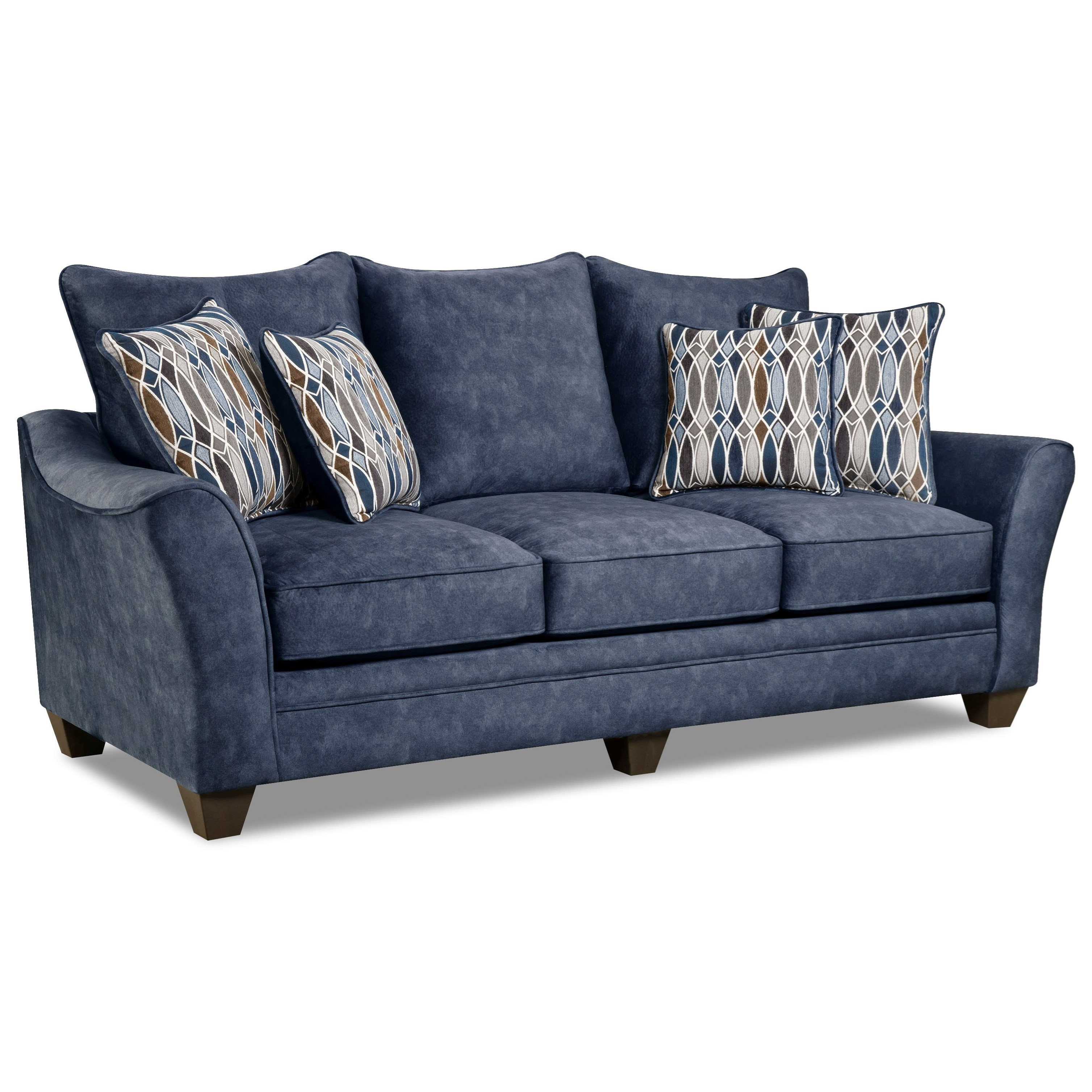 American Sofa Images Athena Navy Sofa With Casual Look By American Furniture At Great American Home Store