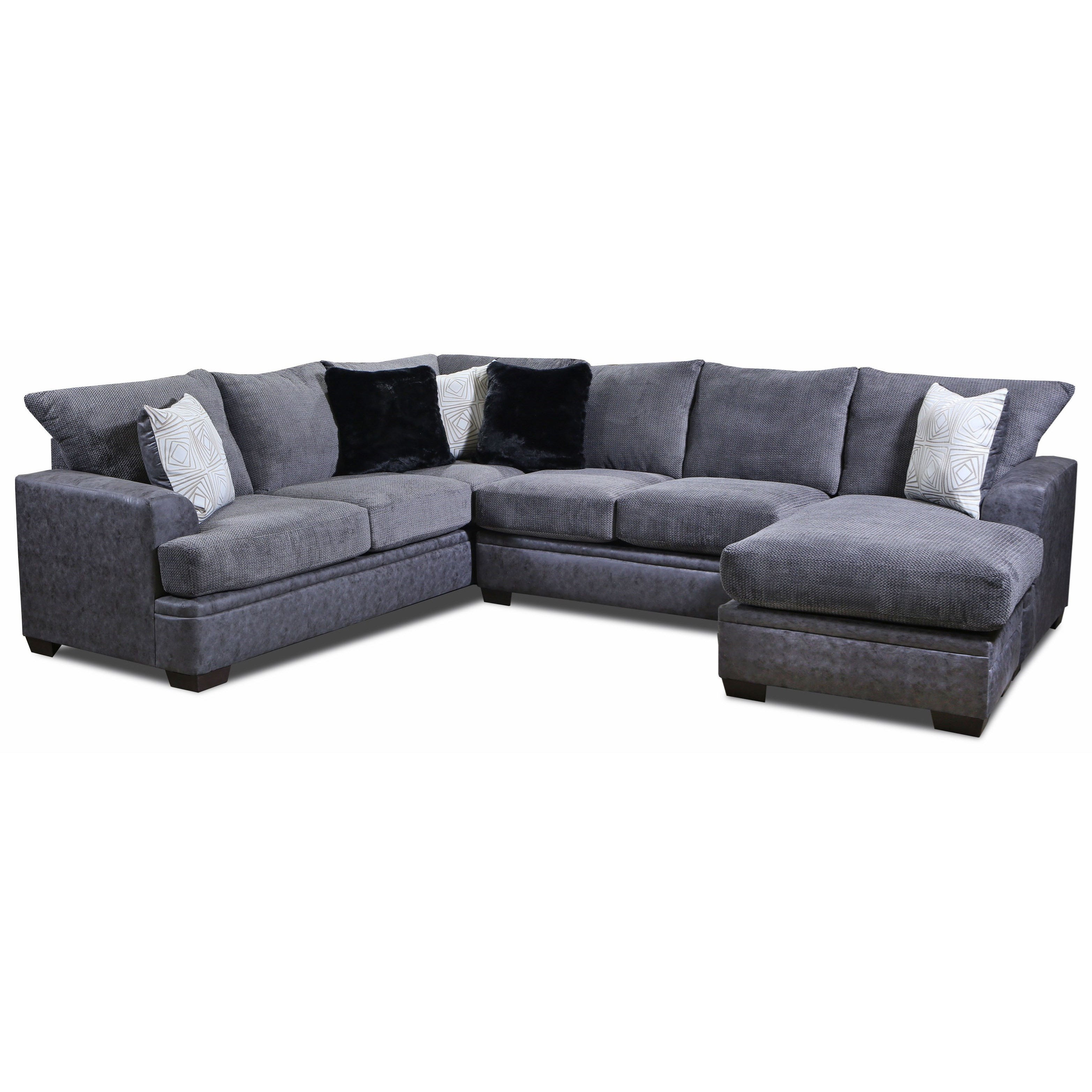 Vendor 610 6800 0177677 Sectional Sofa With Right Side Chaise Becker Furniture Sectional Sofas