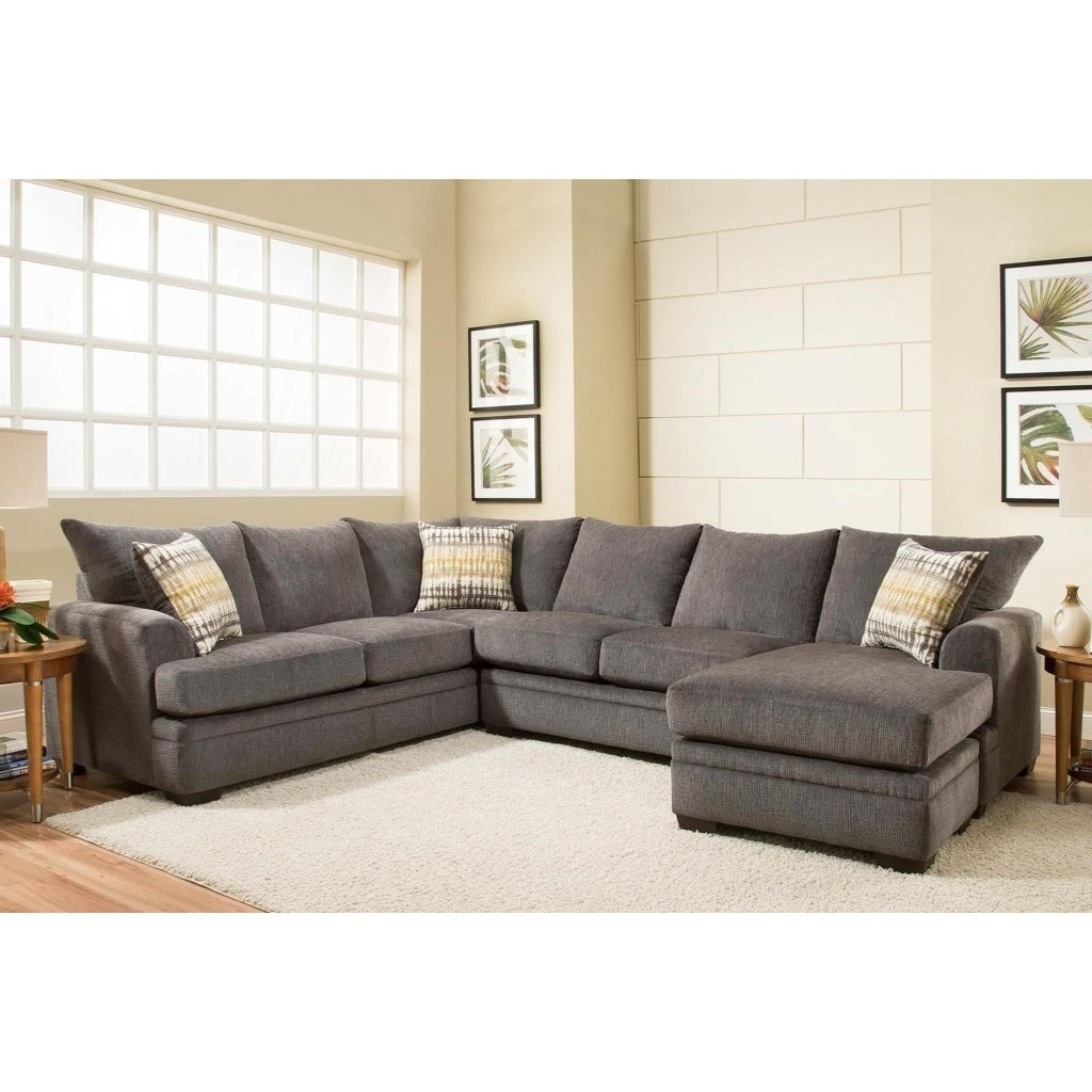 Peak Living 6800 Sectional Sofa With Right Side Chaise Wayside Furniture Sectional Sofas