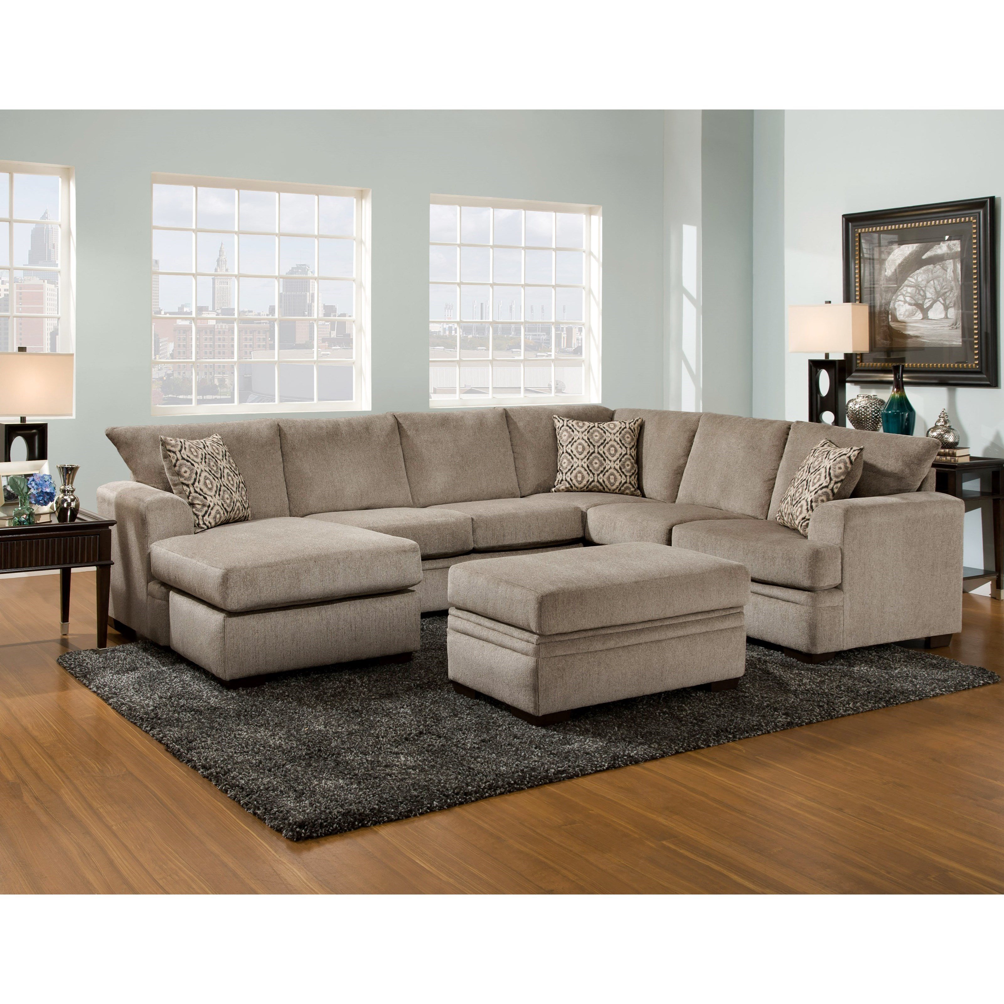 American Sofa Images 6800 Sectional Sofa With Left Side Chaise By American Furniture At Darvin Furniture