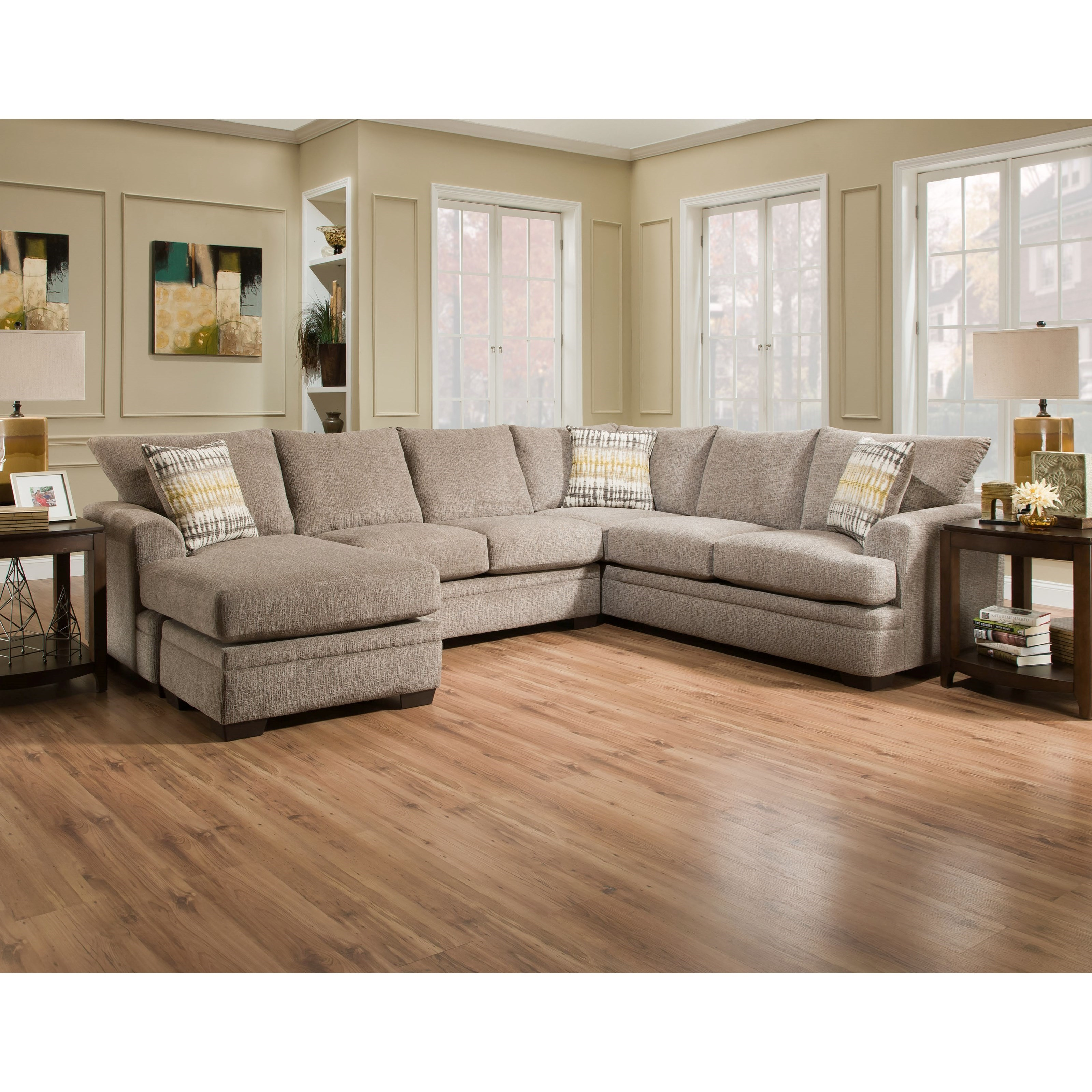 Sectional Bed Sofa 6800 Sectional Sofa With Left Side Chaise By American Furniture At Miskelly Furniture