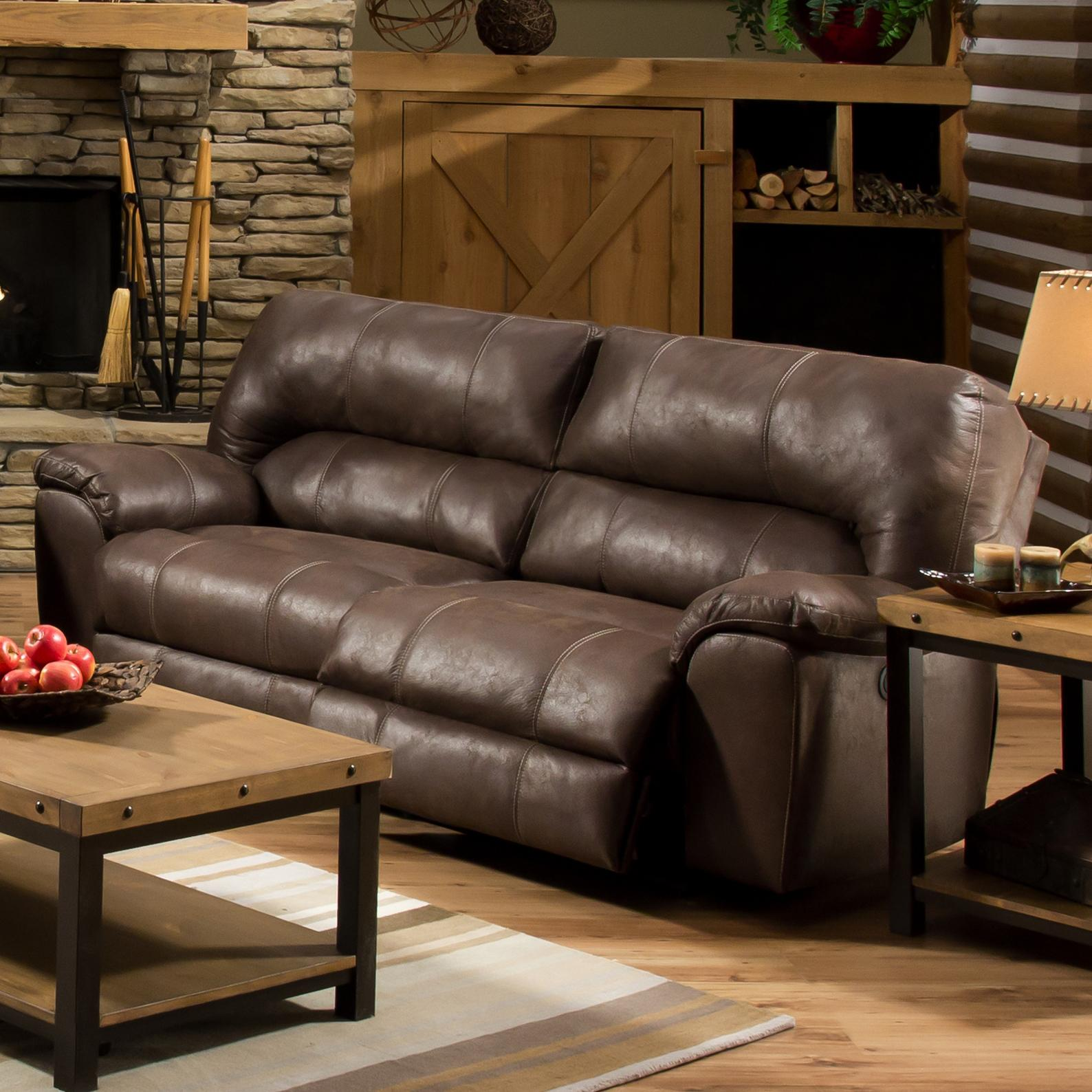American Sofa Images Af740 Reclining Sofa With Headrest By American Furniture At Prime Brothers Furniture