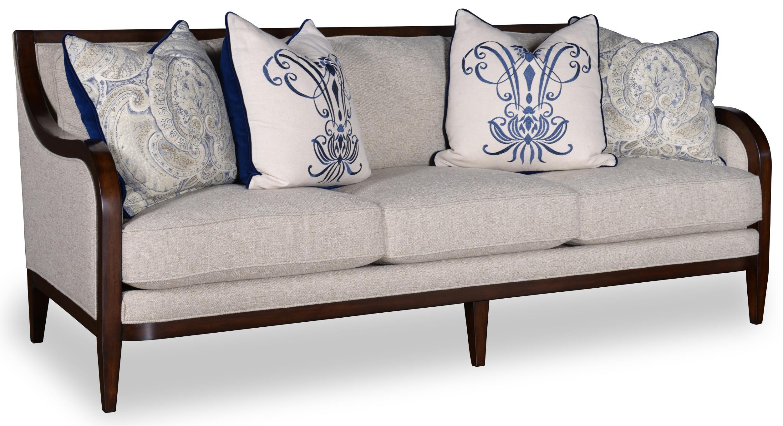 Art Furniture Inc Bristol 3 Seat Sofa With Tapered Legs