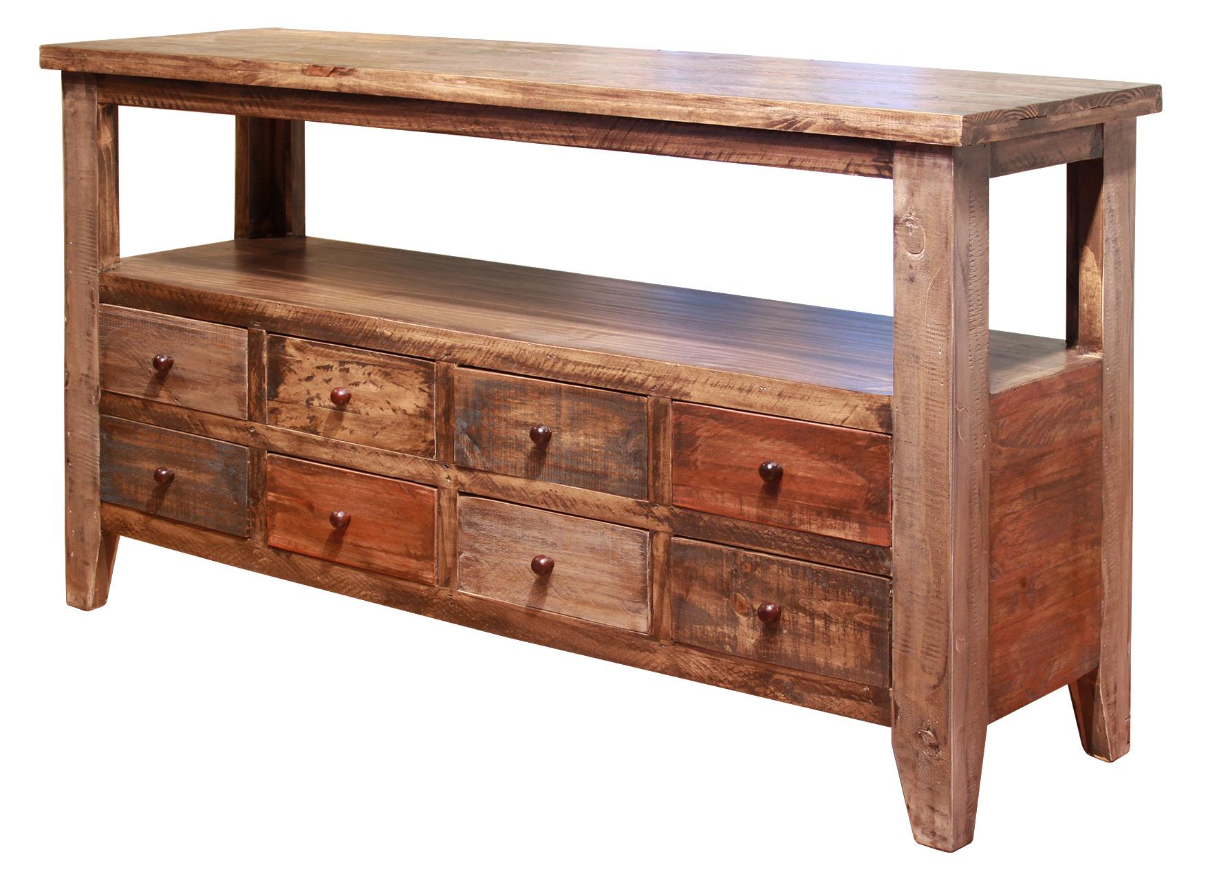 Vfm Signature Antique Sofa Table With 8 Drawers Virginia Furniture Market Sofa Tables Consoles