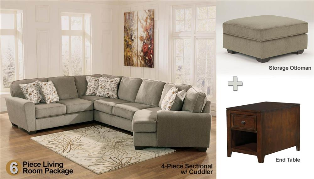 Patina 6-Piece Sectional Living Room Set - Rotmans - Upholstery - ashley living room set