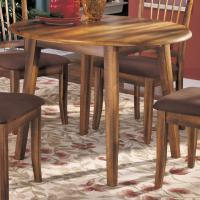 Ashley Furniture Berringer Hickory Stained Hardwood Round ...