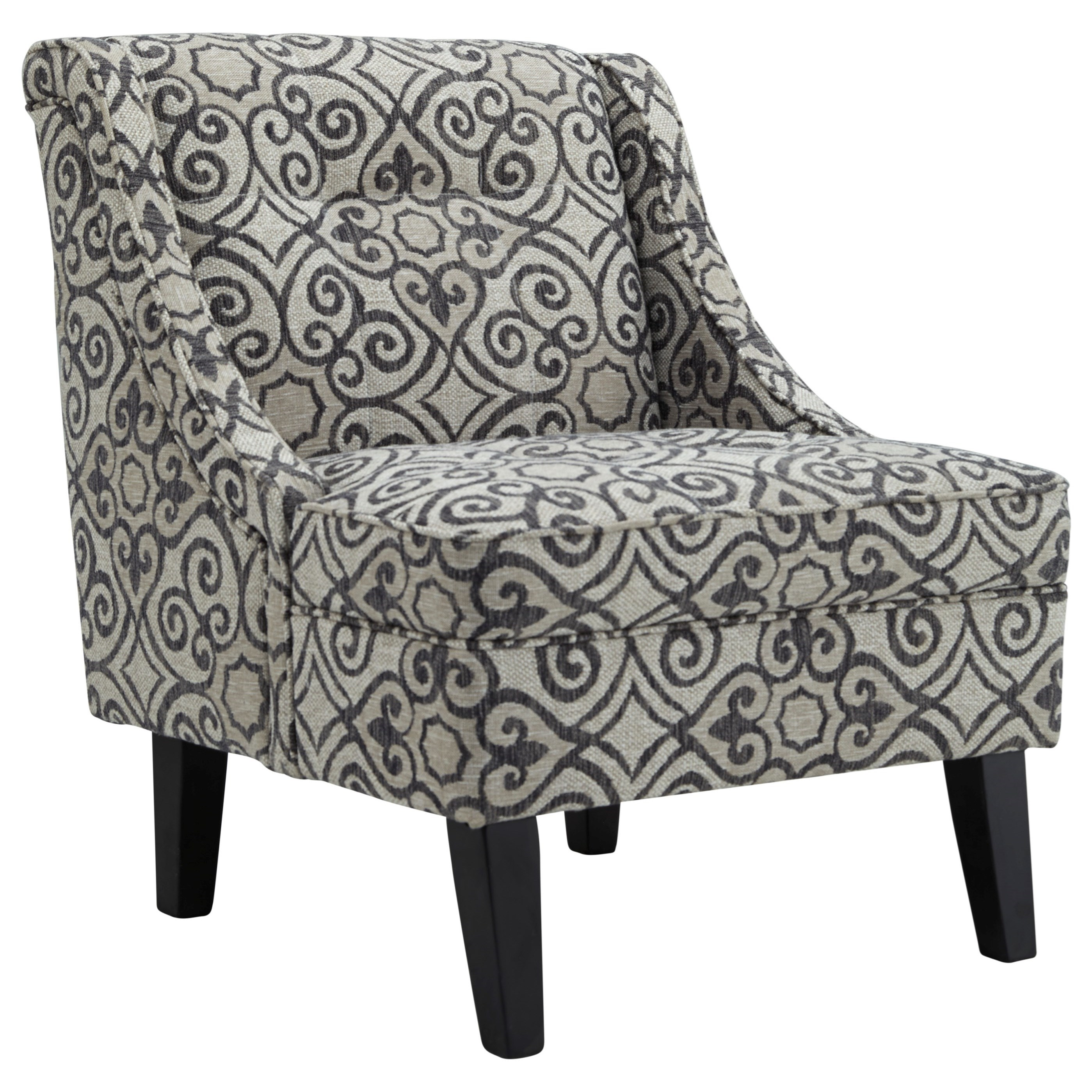 Ashley Furniture Kestrel Accent Chair With Gray Cream Pattern Fabric Wayside Furniture Upholstered Chairs