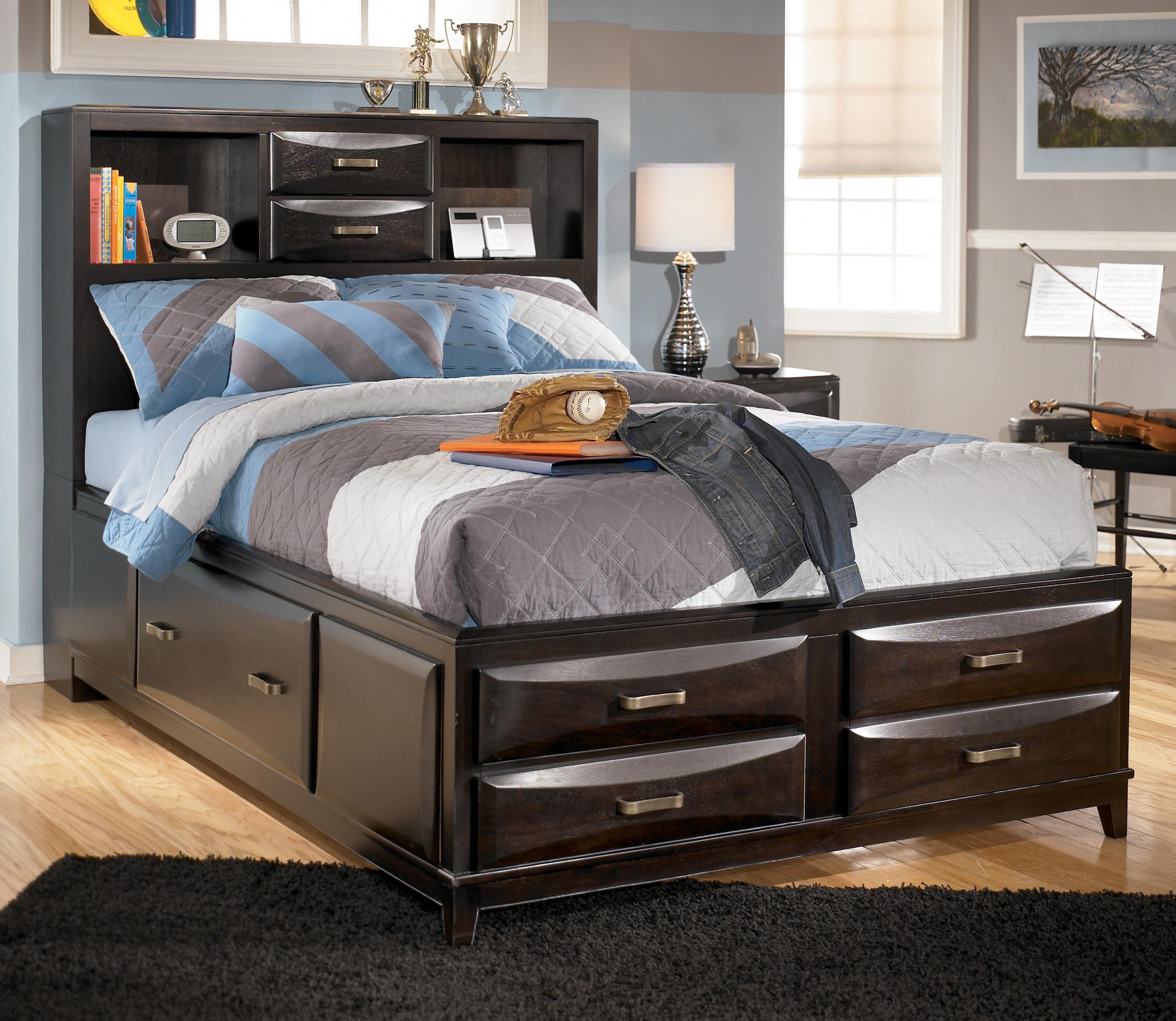 Huntington Bedroom Furniture Kira Full Storage Bed By Ashley Furniture At Michael S Furniture Warehouse
