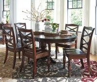 Ashley Furniture Porter 7-Piece Round Dining Table Set ...