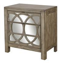 Aspenhome Tildon Liv360 Mirrored Nightstand with Two ...