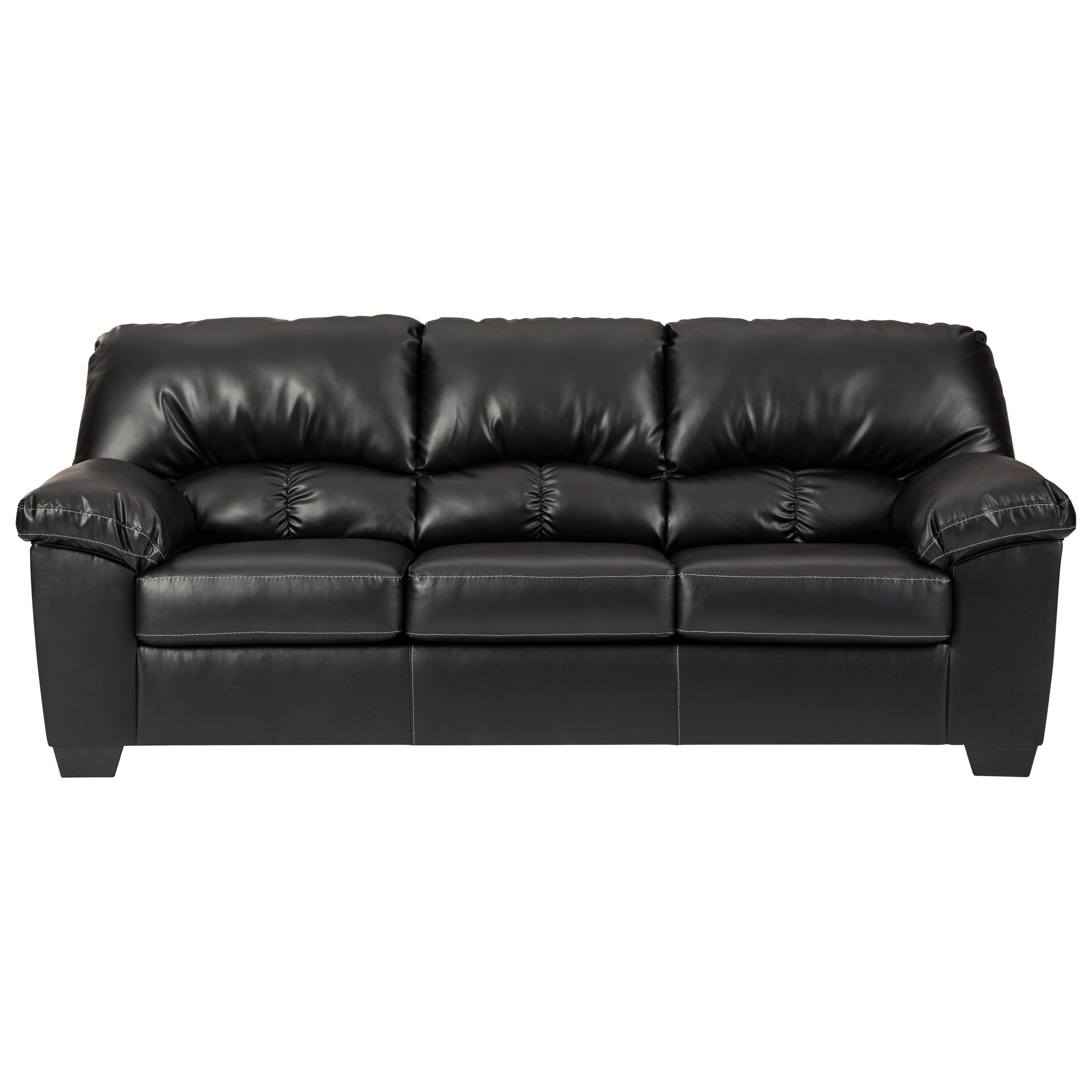 Benchcraft Brazoria Casual Faux Leather Sofa Value City Furniture Sofas