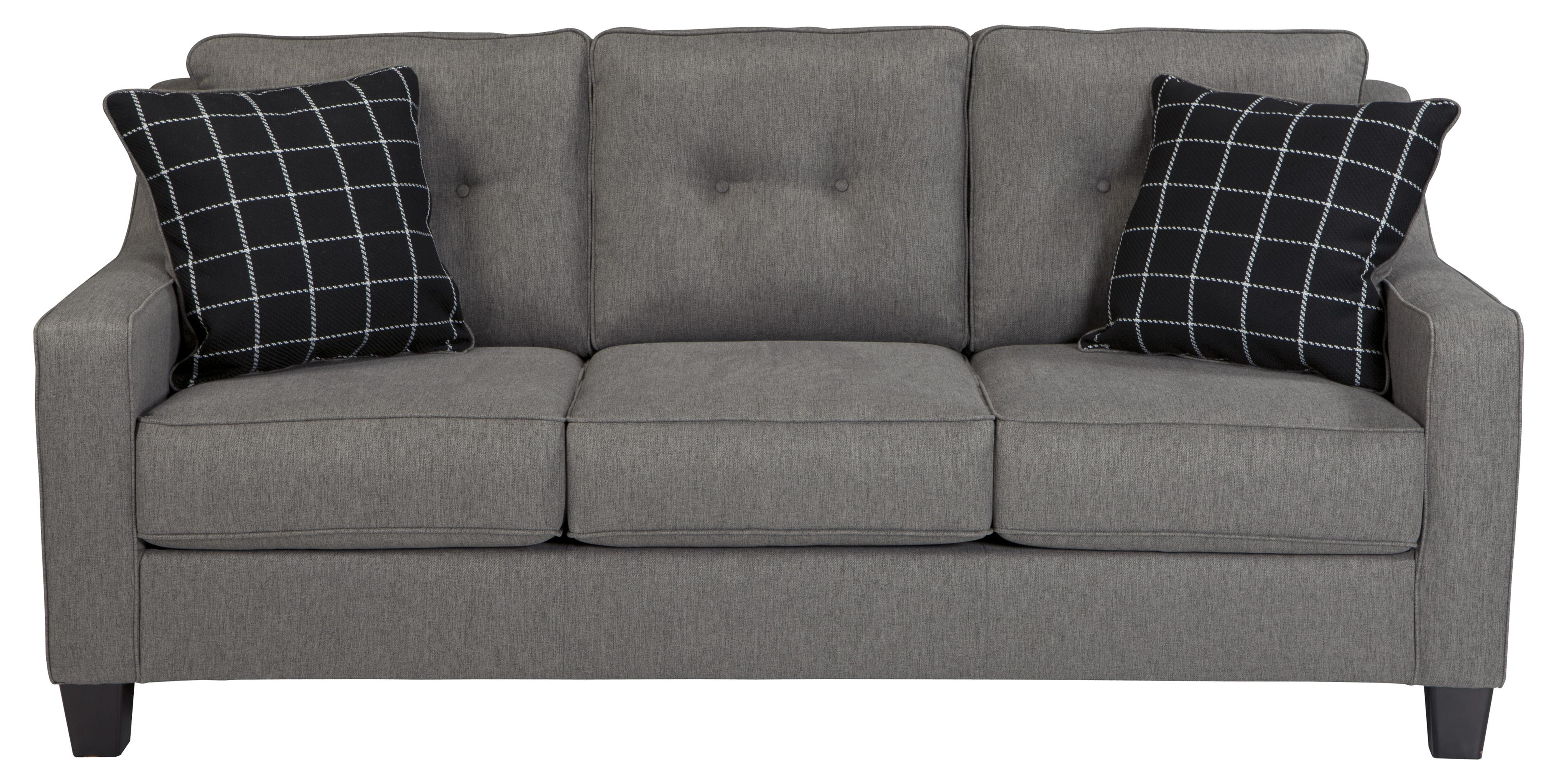Queen Sofa Bed Brindon Contemporary Queen Sofa Sleeper With Track Arms Tufted Back By Benchcraft At Household Furniture