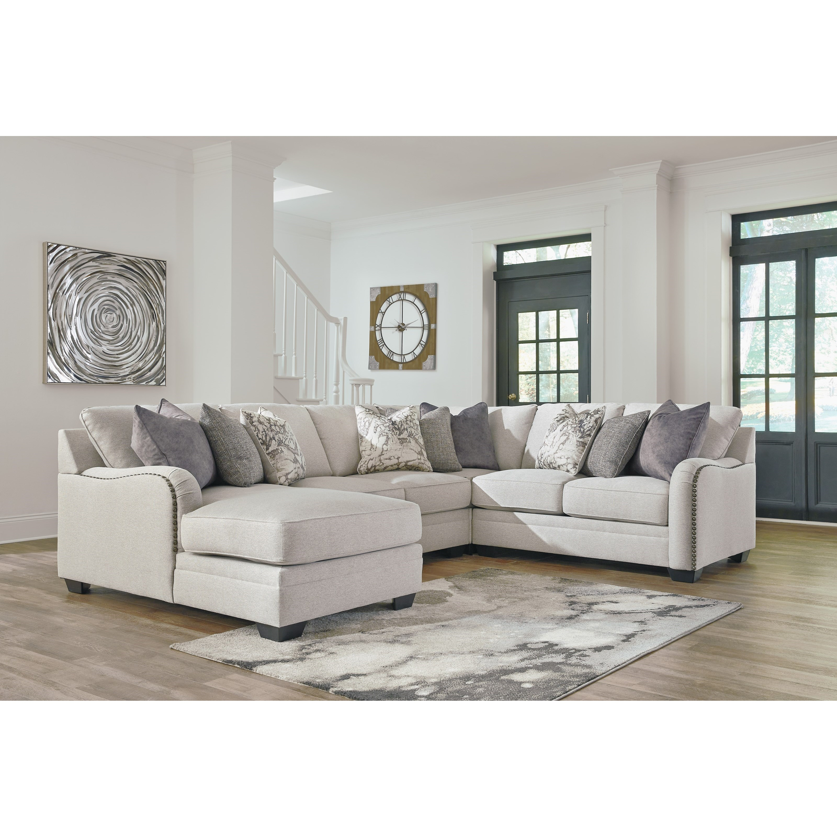 Furniture Chaise Dellara Casual 4 Piece Sectional With Left Chaise By Ashley At Becker Furniture World